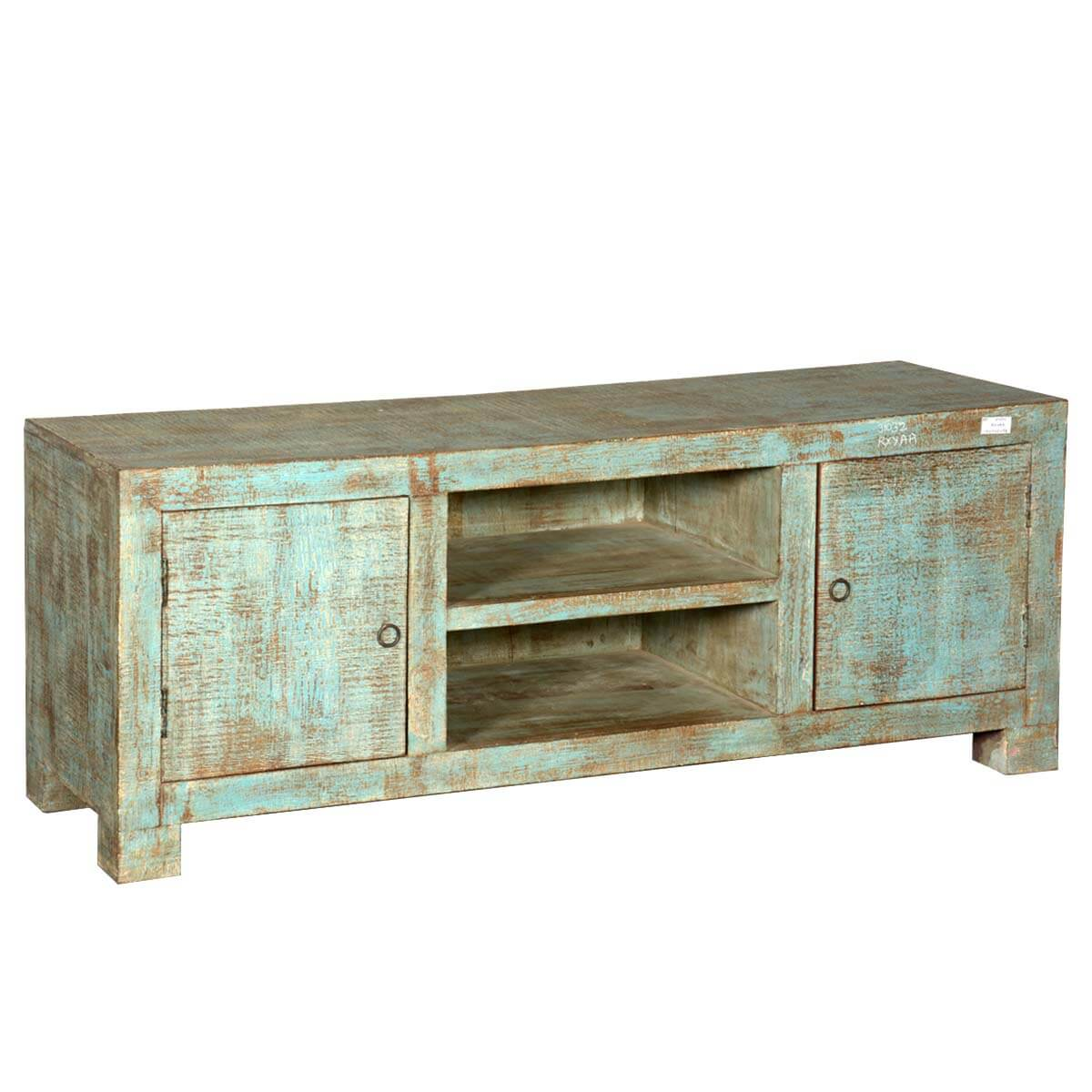 Rustic Reclaimed Wood Vintage Tv Media Entertainment Console