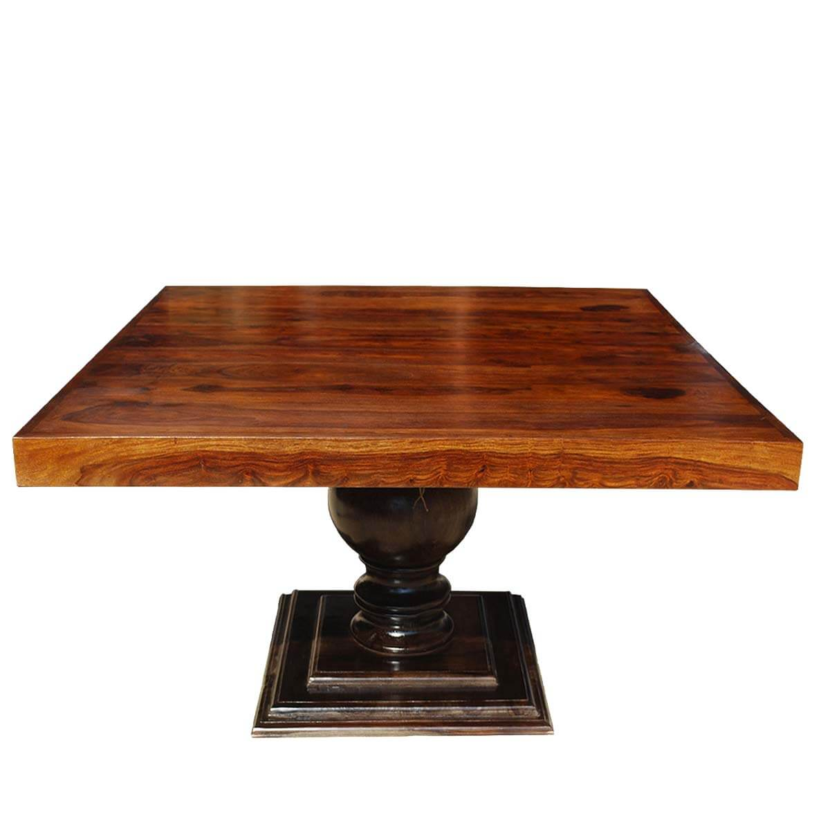 Dining Room Dining Tables 60 Square Solid Wood Fusion Pedestal Dining