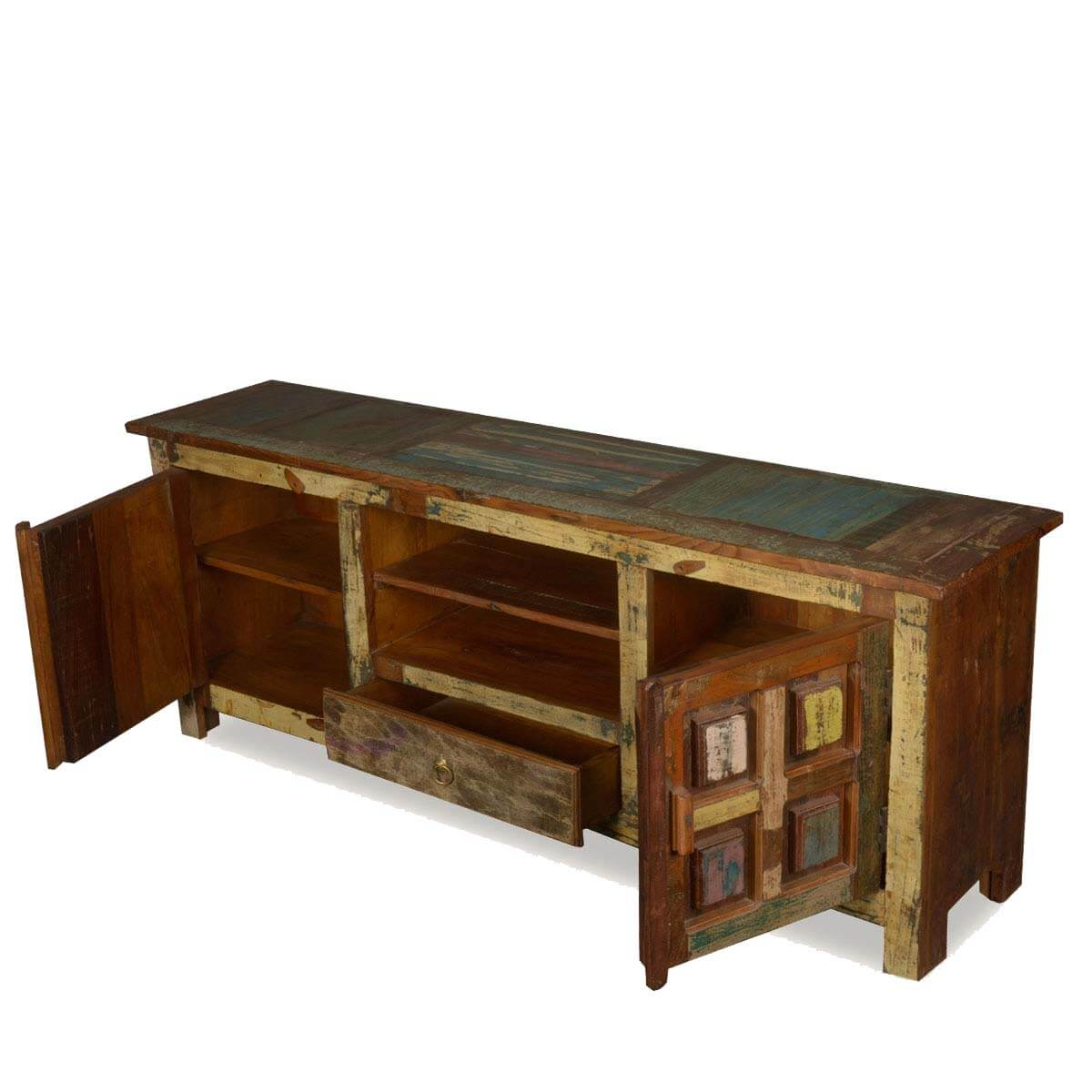 solid wood handcrafted rustic tv stand media console. Black Bedroom Furniture Sets. Home Design Ideas
