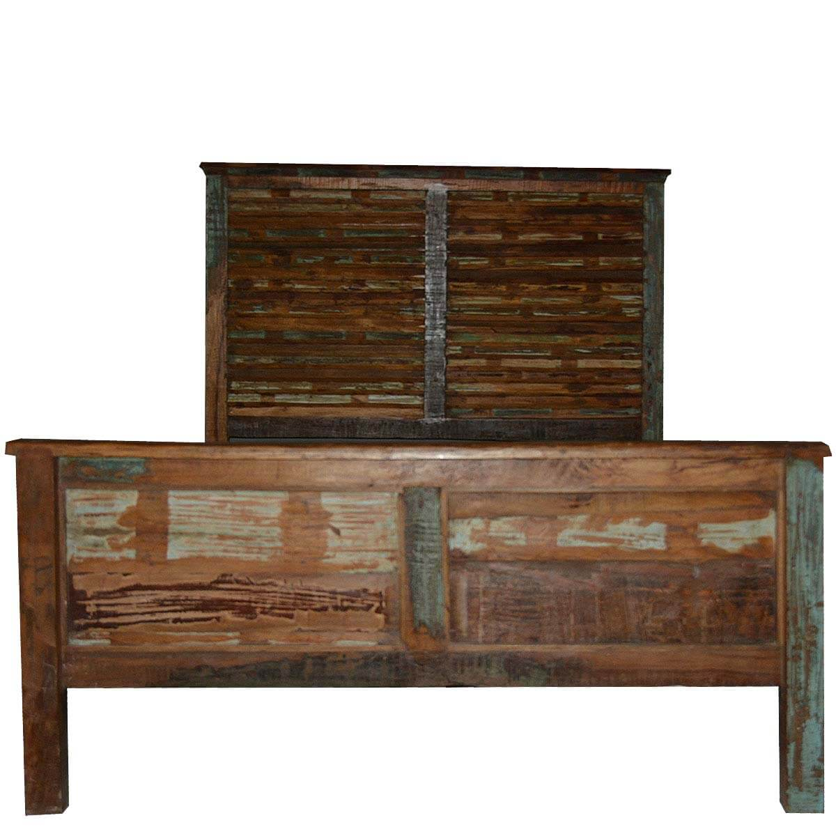 Artisan Collection Rustic Dream Reclaimed Headboard Wood Queen Bed