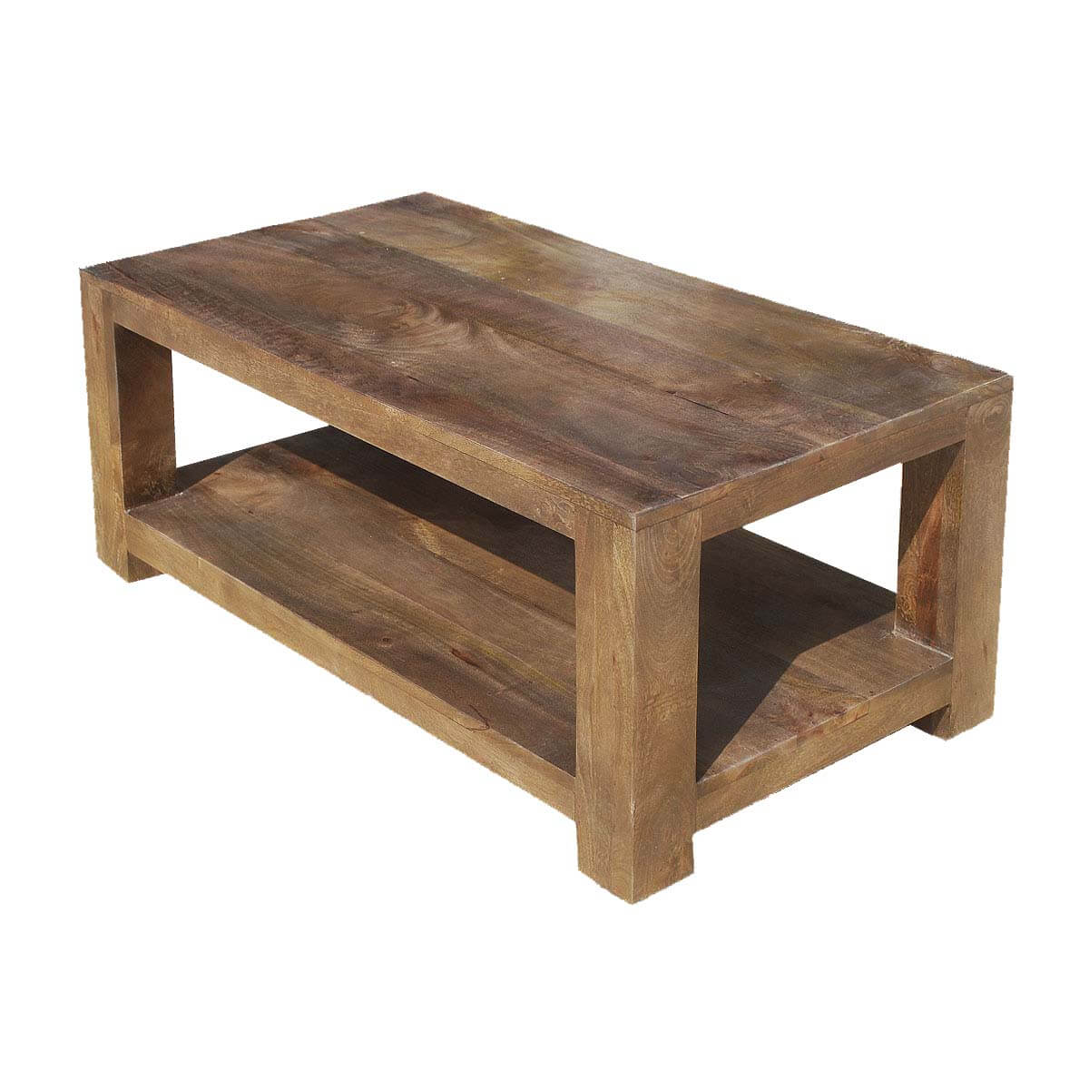 Contemporary Mango Wood 2 Tier 43 Coffee Table