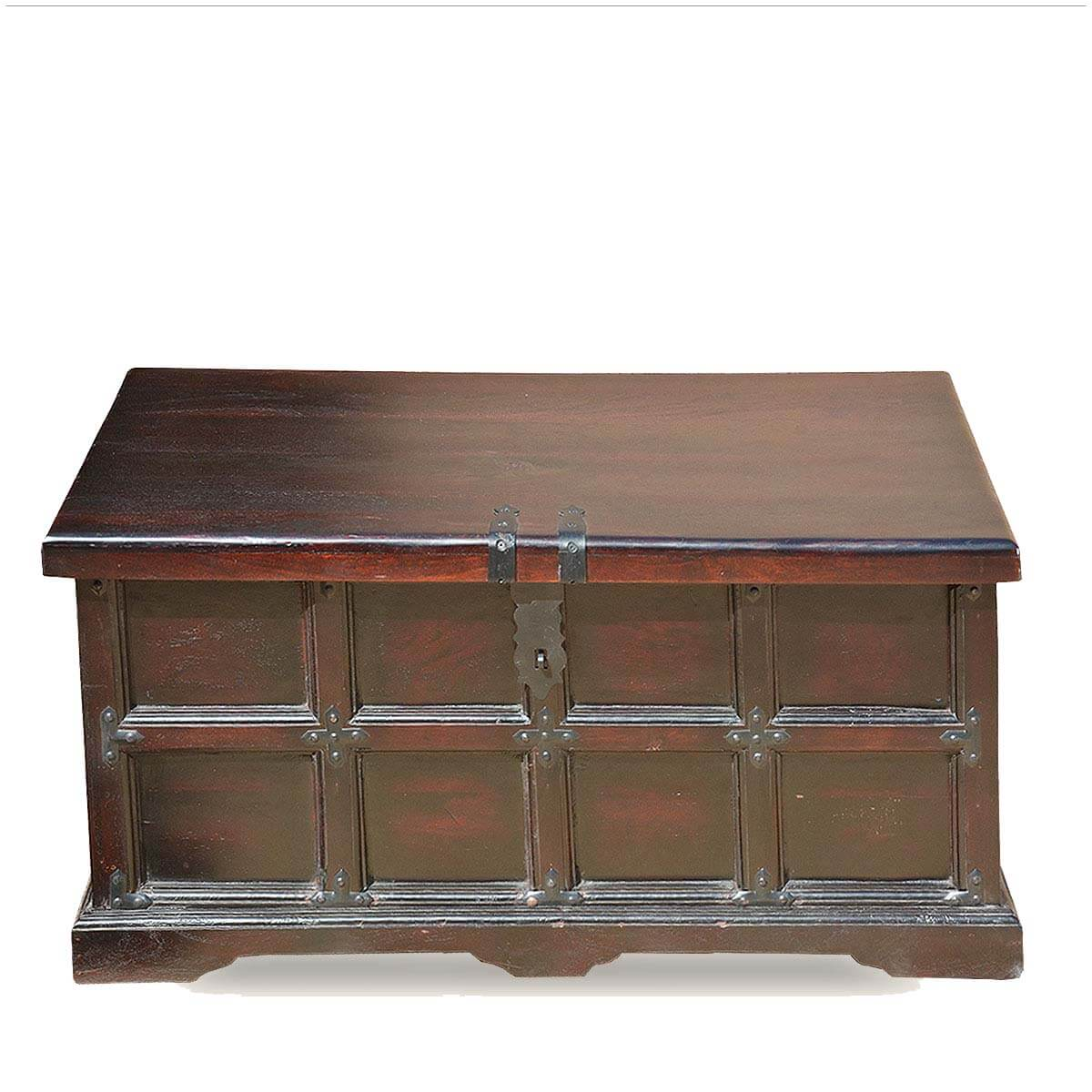 Beaufort captain 39 s solid wood 36 long coffee table chest for Long coffee table