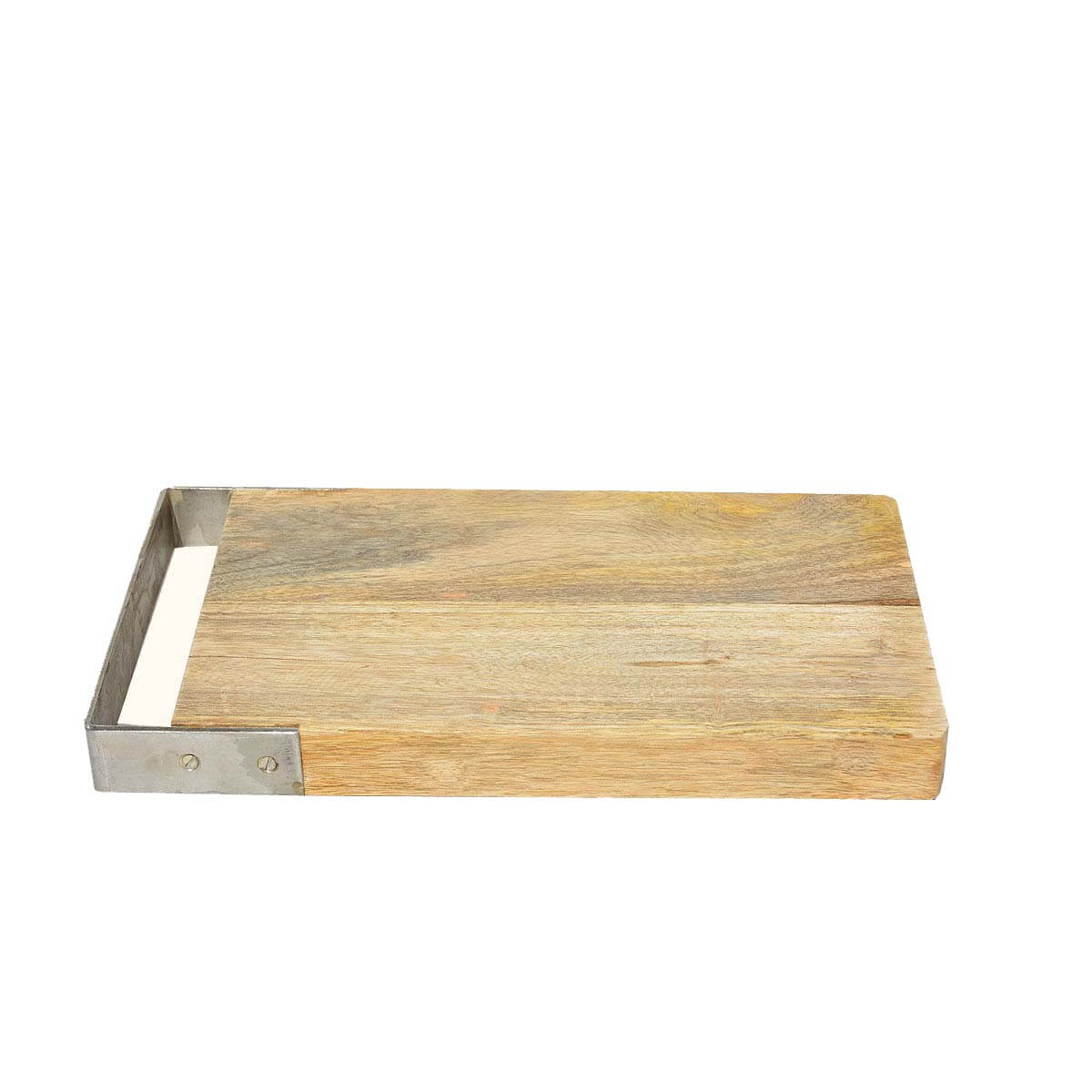 Stainless Steel Handle Mango Wood Kitchen Cutting Board