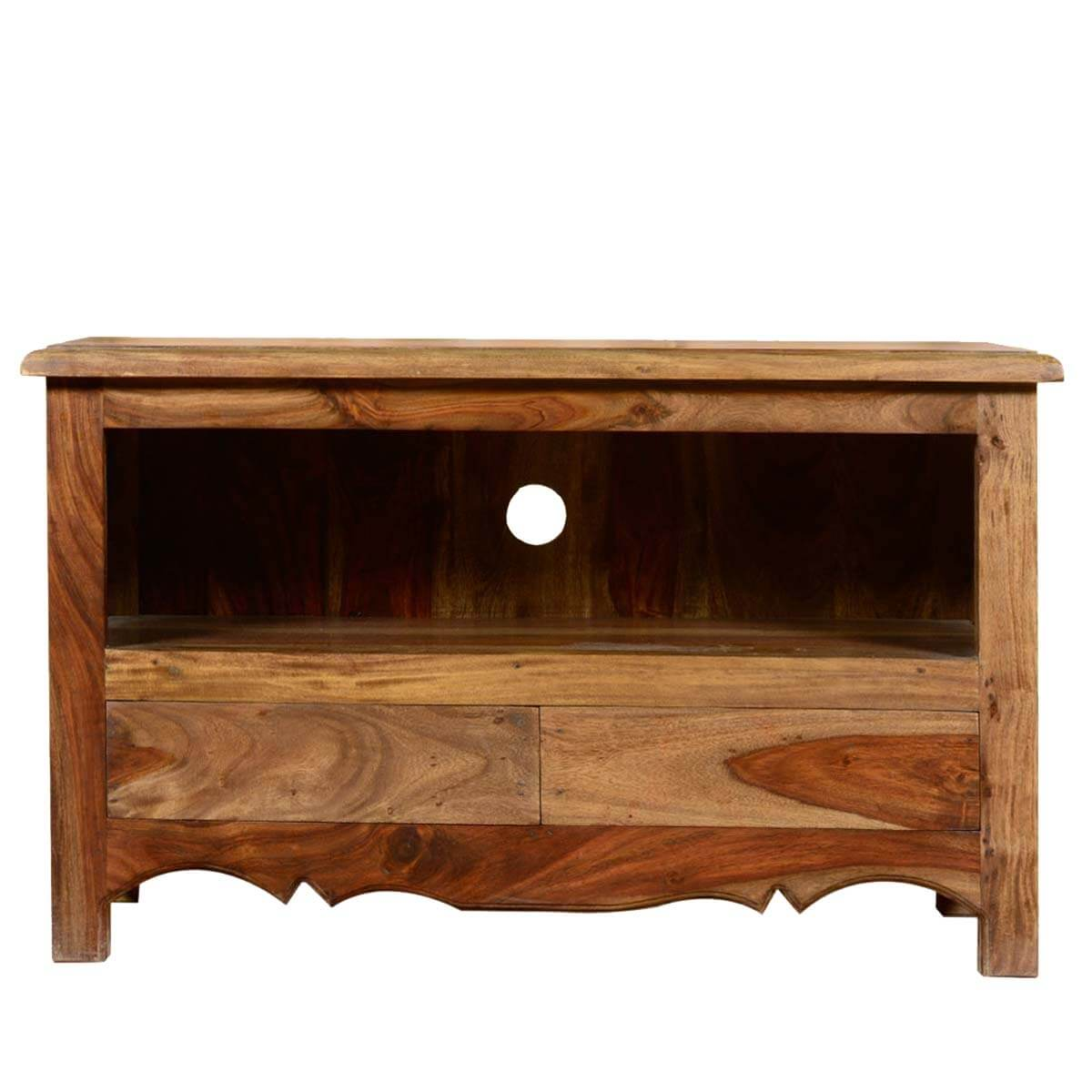 Colonial solid wood entertainment center 35 tv stand Wood entertainment center