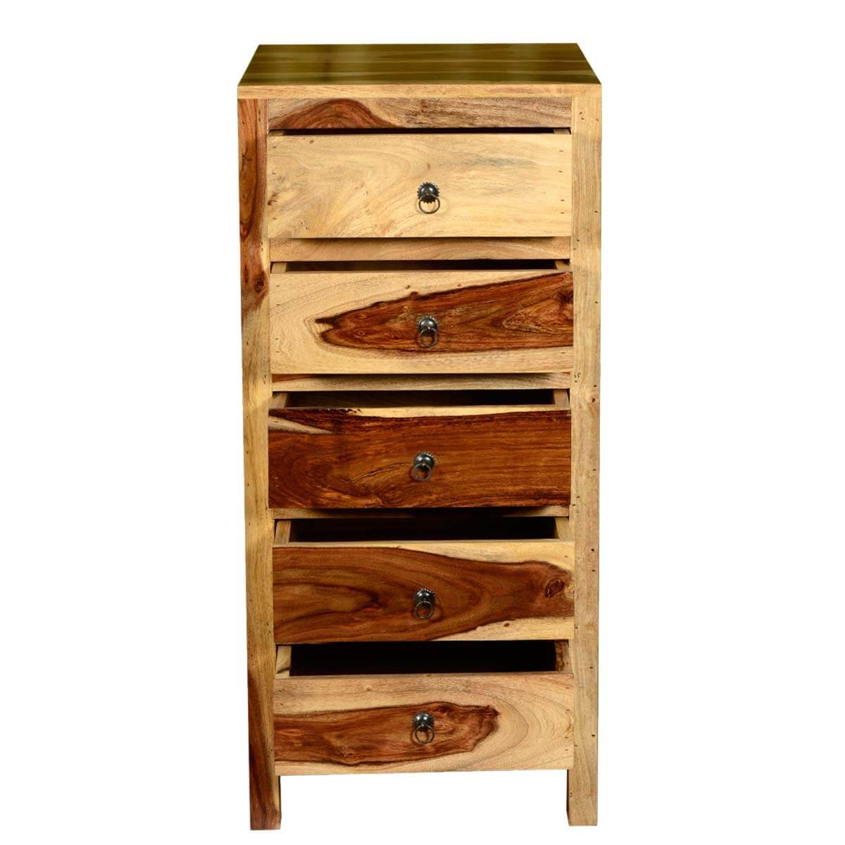 Dallas ranch solid wood contemporary drawer tower dresser