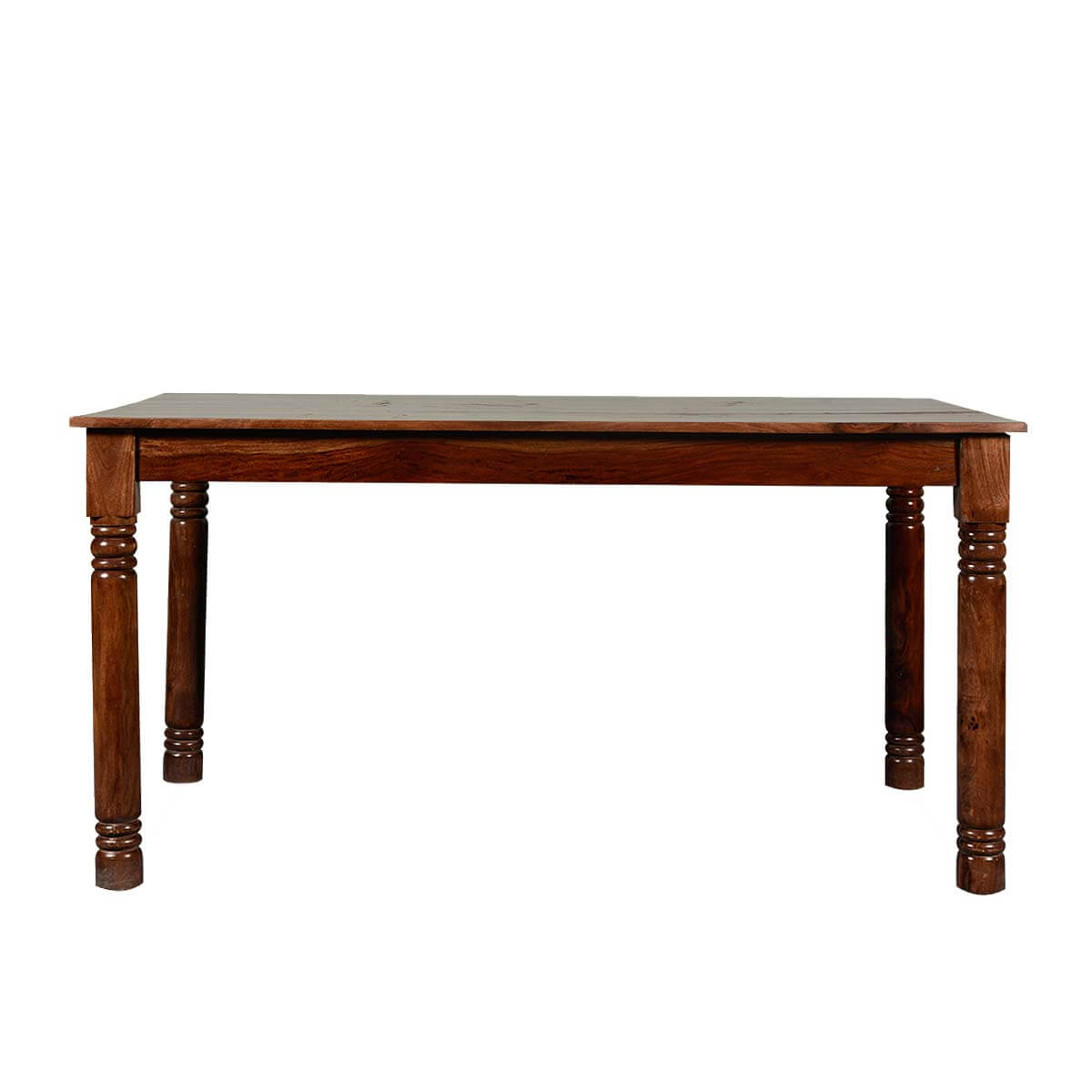 Simply elegant farmhouse solid wood 58 dining table for Solid wood farm table