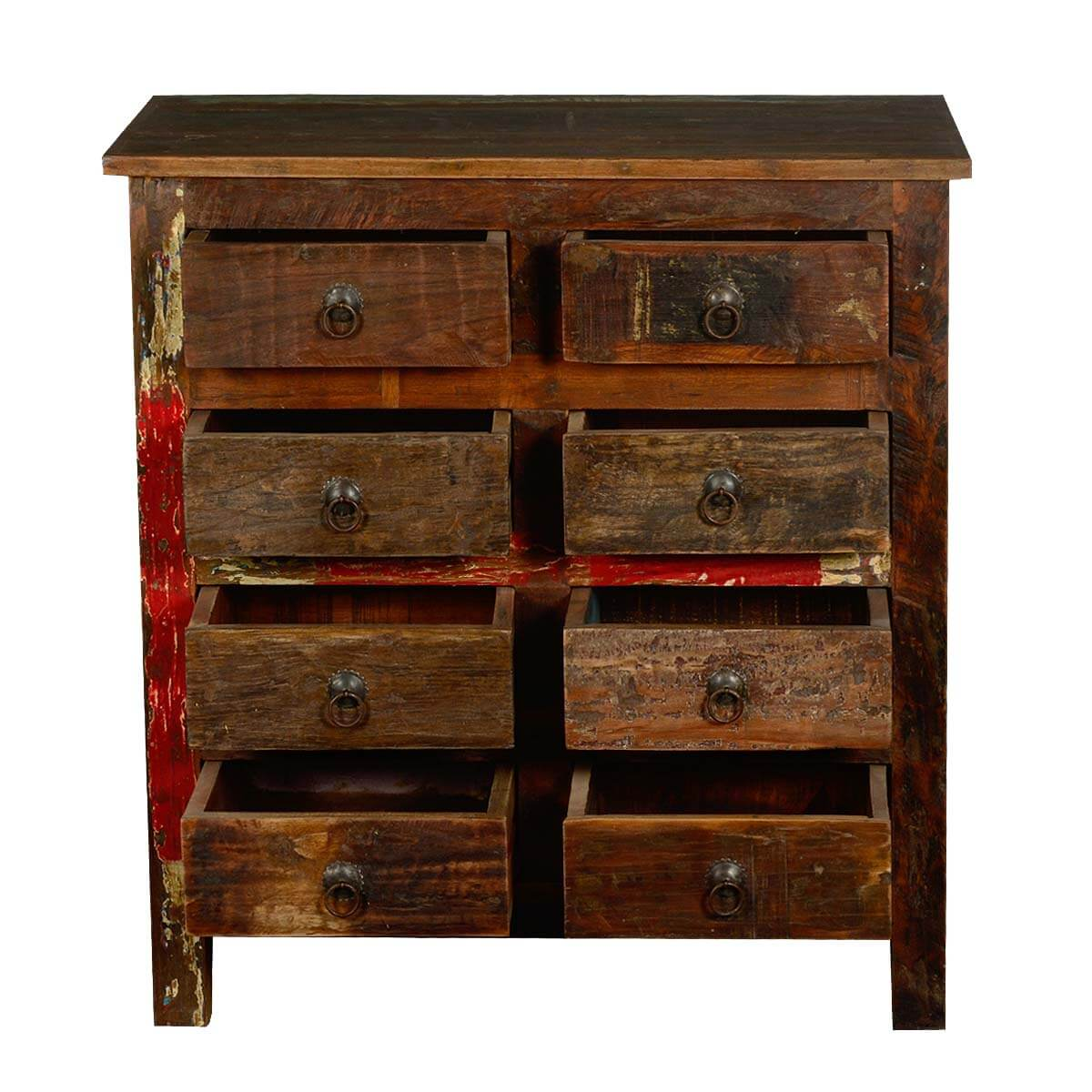 Rustic 8 Rustic 8: Rustic Reclaimed Wood 8 Drawer Double Dresser Bedroom Chest