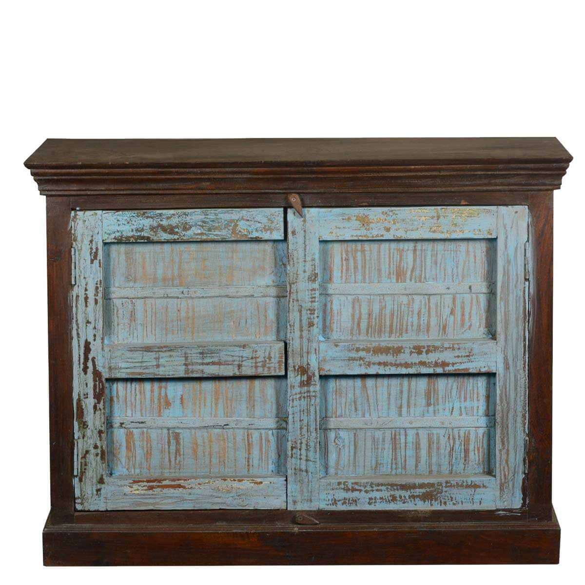 Collection Rustic Reclaimed Wood 2 Door Kitchen Buffet Storage Cabinet