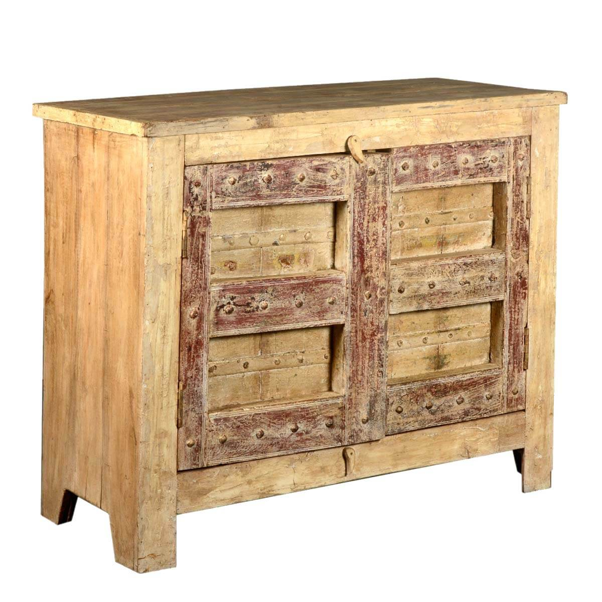 Reclaimed Wood Cabinets ~ Rustic reclaimed wood furniture buffet gothic door