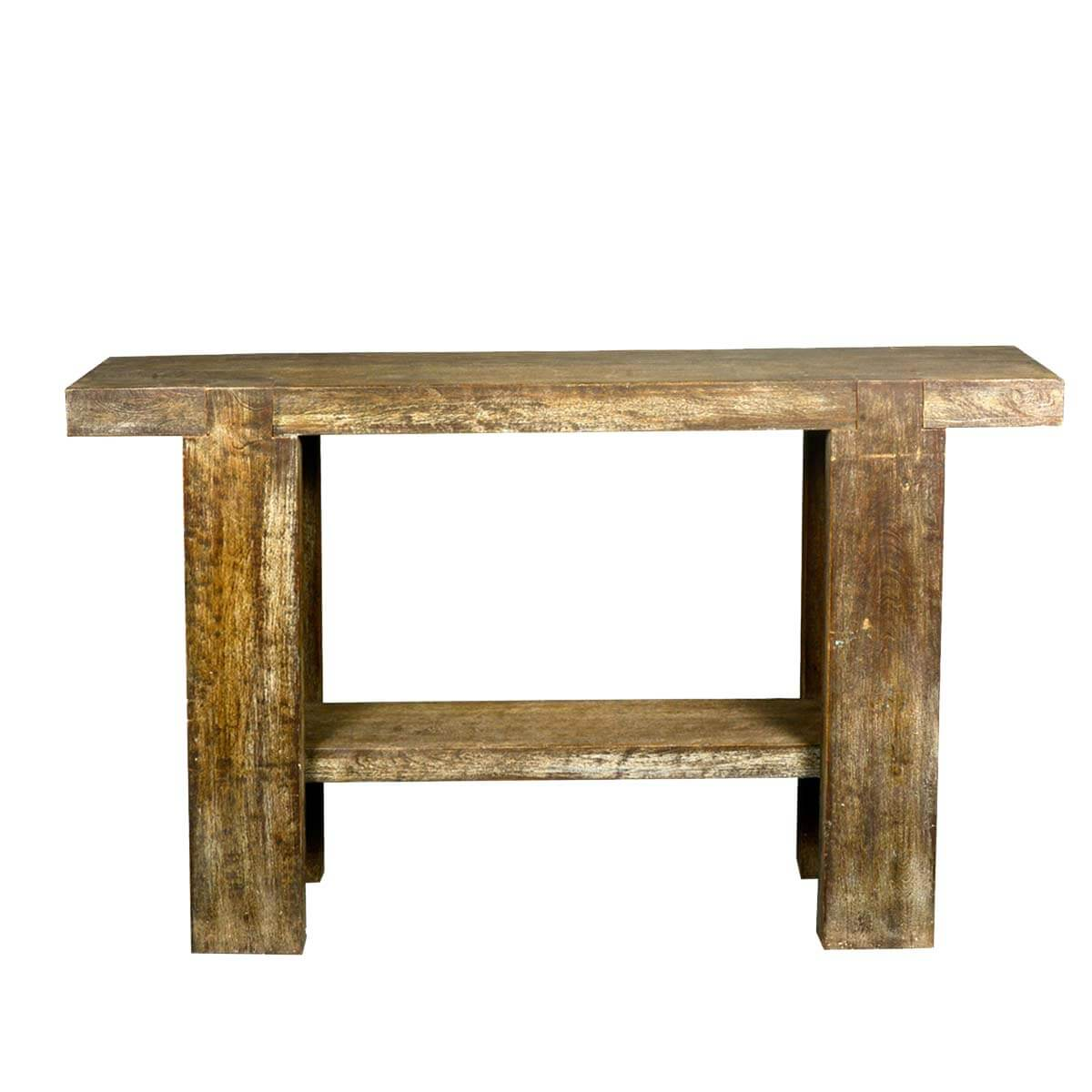 Rustic holes reclaimed wood sofa table hall console
