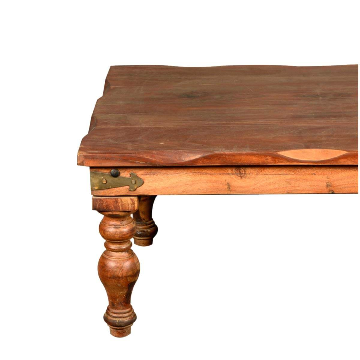 Large Coffee Table Nottingham: Nottingham Scalloped Edge Rustic Reclaimed Wood Coffee Table
