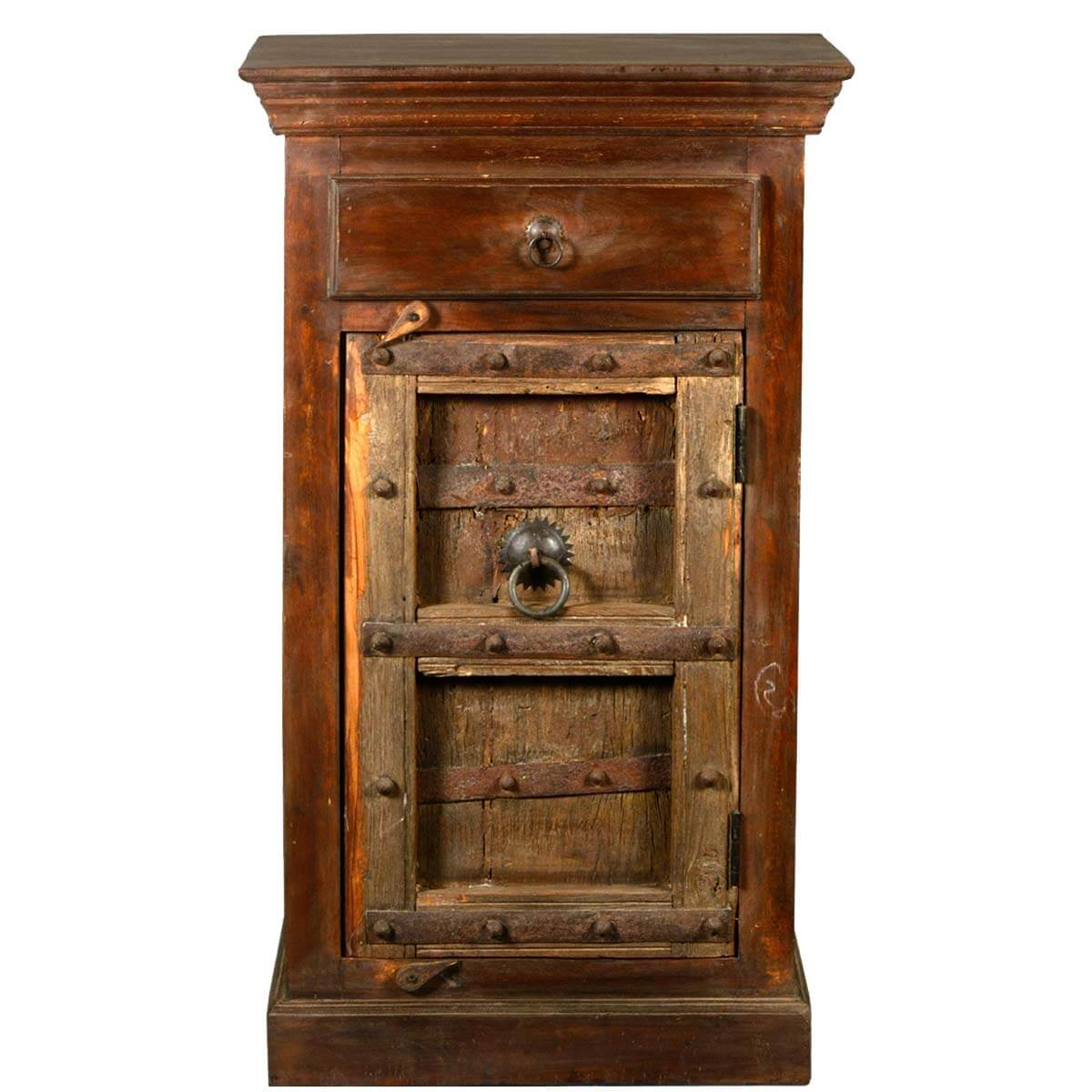 Gothic Golden Door Reclaimed Wood Night Stand End Table  : 50841 from sierralivingconcepts.com size 1200 x 1200 jpeg 131kB