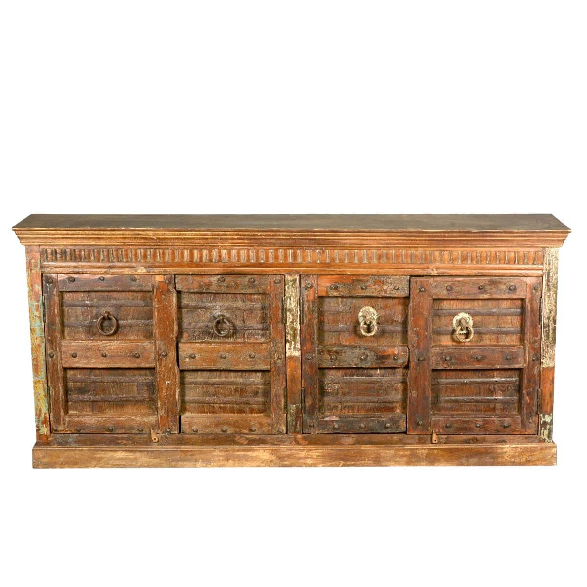 Reclaimed Wood Furniture Large Gothic 4 Door Sideboard