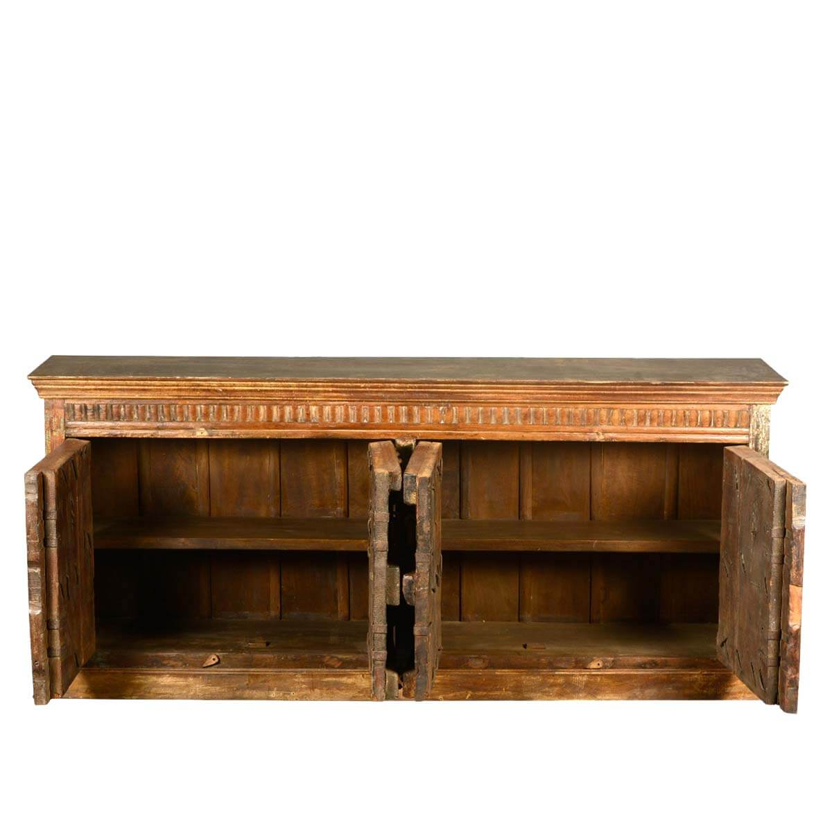 Reclaimed Wood Furniture Large Gothic 4 Door Sideboard  : 50922 from sierralivingconcepts.com size 1200 x 1200 jpeg 101kB