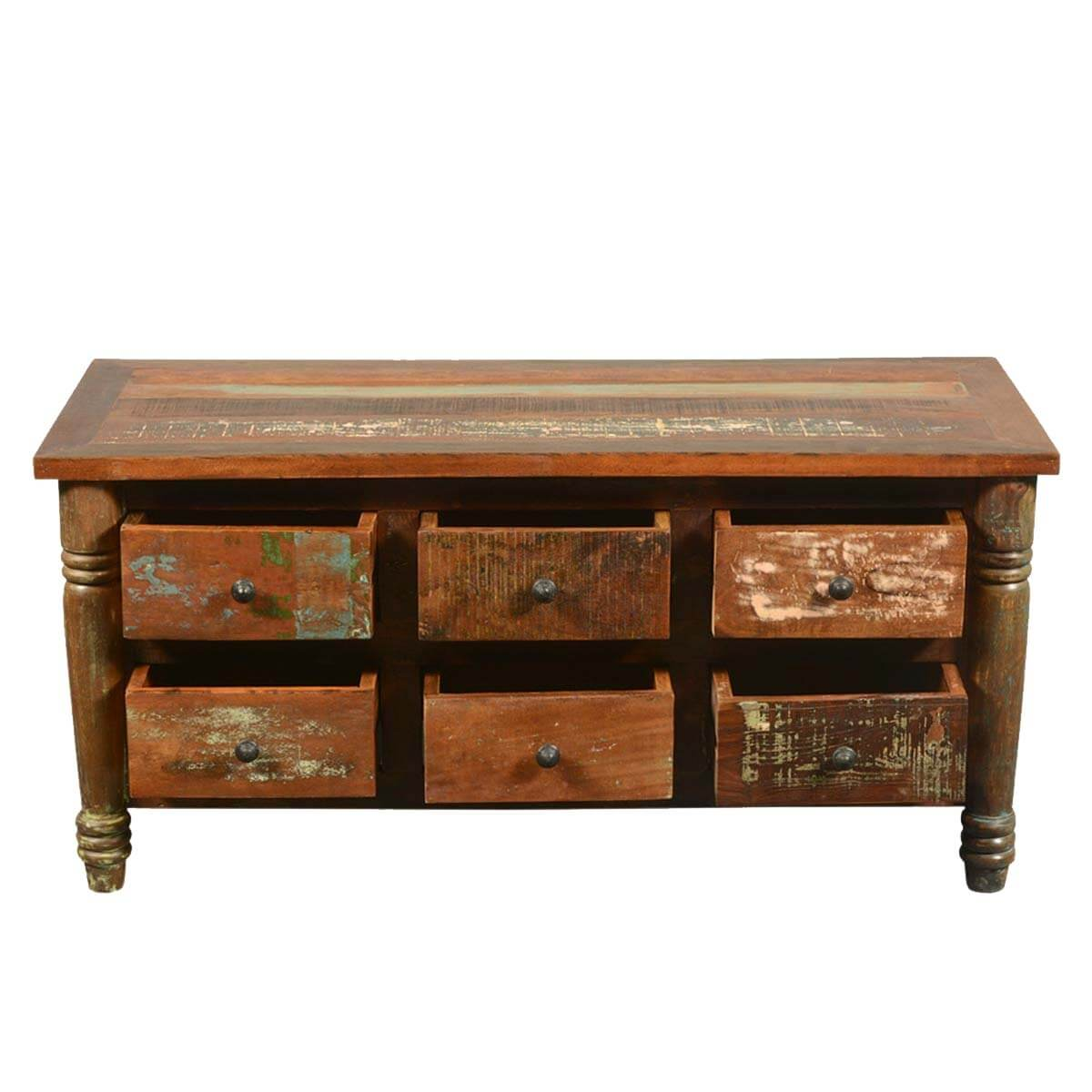 Superb img of  Appalachian Rustic Reclaimed Wood Coffee Table Chest of Drawers with #B07A1B color and 1200x1200 pixels