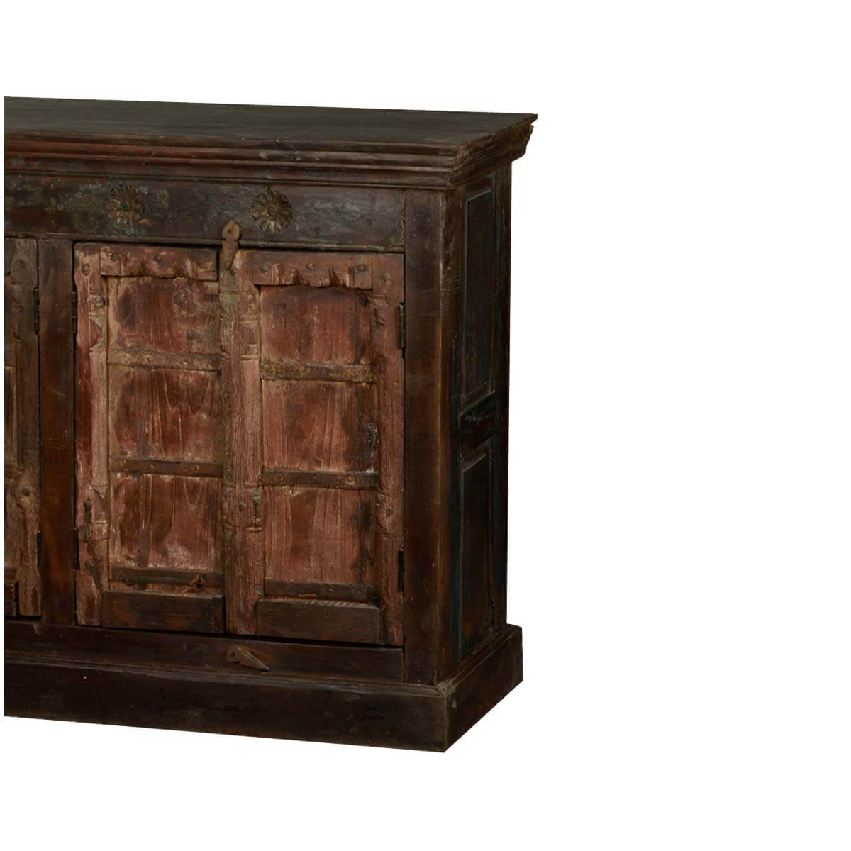 Gothic 4 Door Storage Buffet Cabinet Reclaimed Wood Rustic  : 51034 from sierralivingconcepts.com size 1200 x 1200 jpeg 99kB