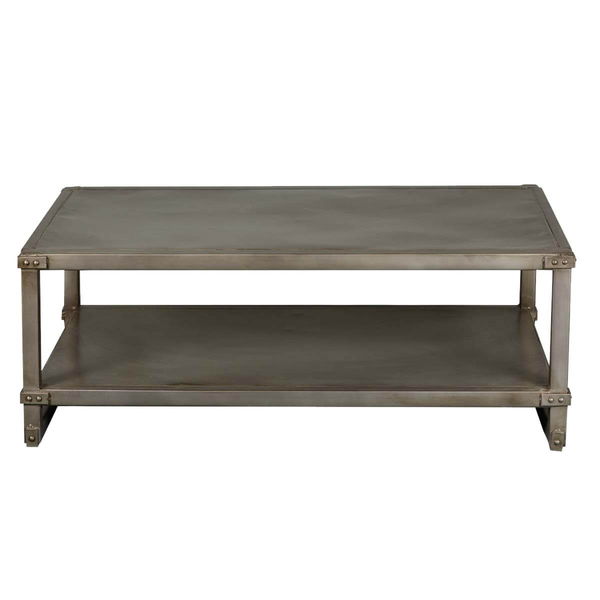 Industrial Iron Pot Board Style Loft Coffee Table
