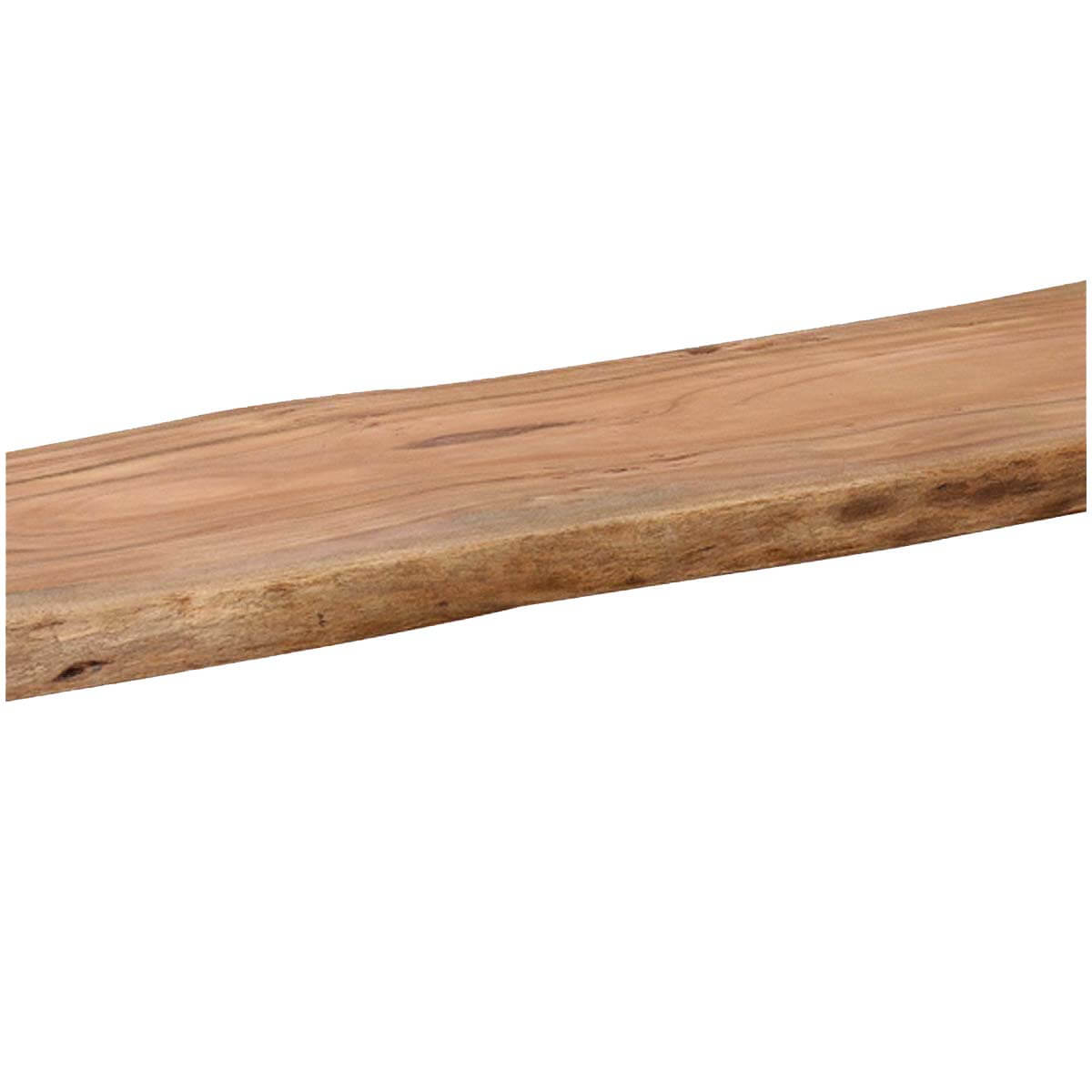 Rustic Wood Bench : ... Rustic Industrial Solid Wood Iron Base Organic Live Edge Bench