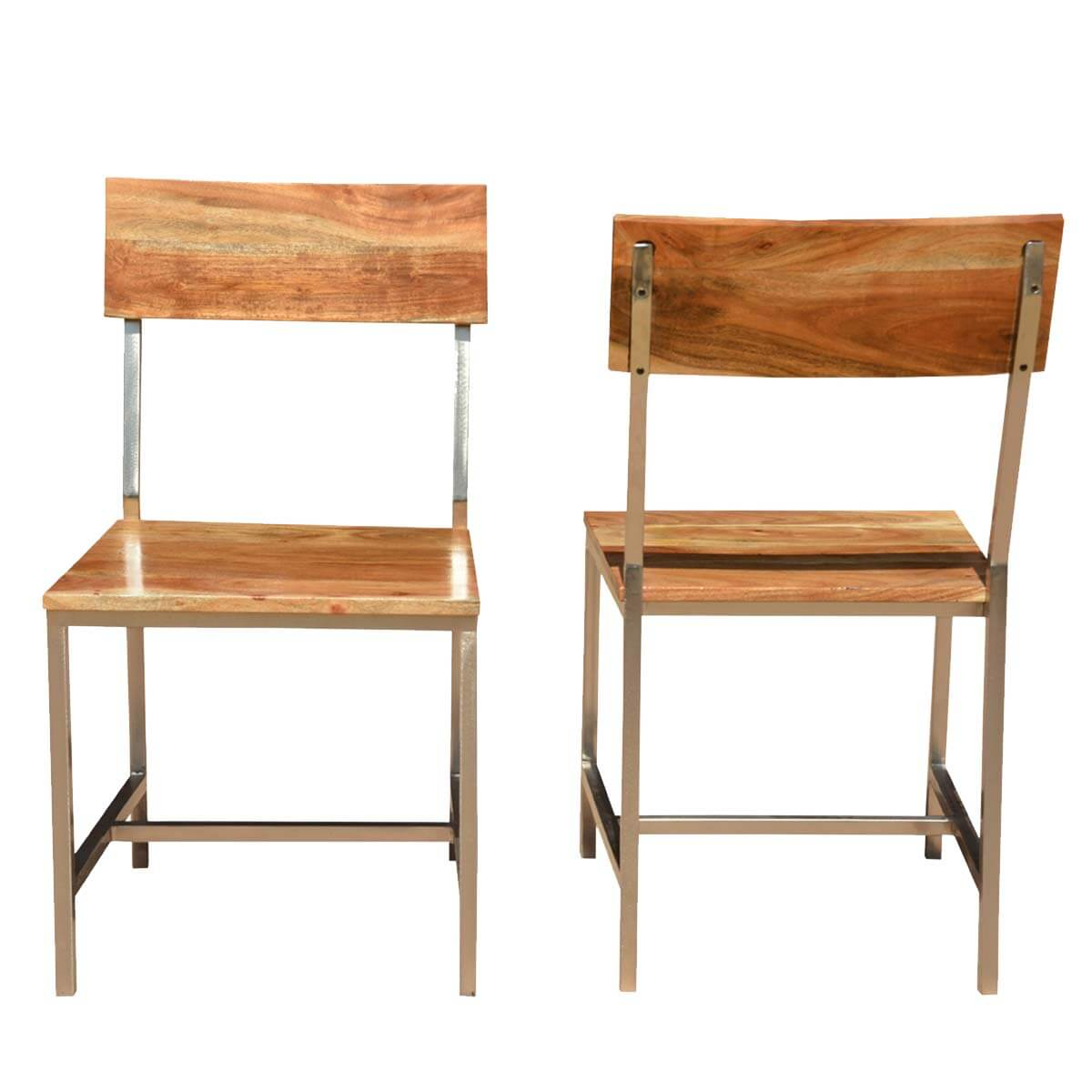 Marvelous photograph of  Rustic Furniture Solid Wood & Iron Rustic Dining Chair (Set Of 2 with #B48317 color and 1200x1200 pixels