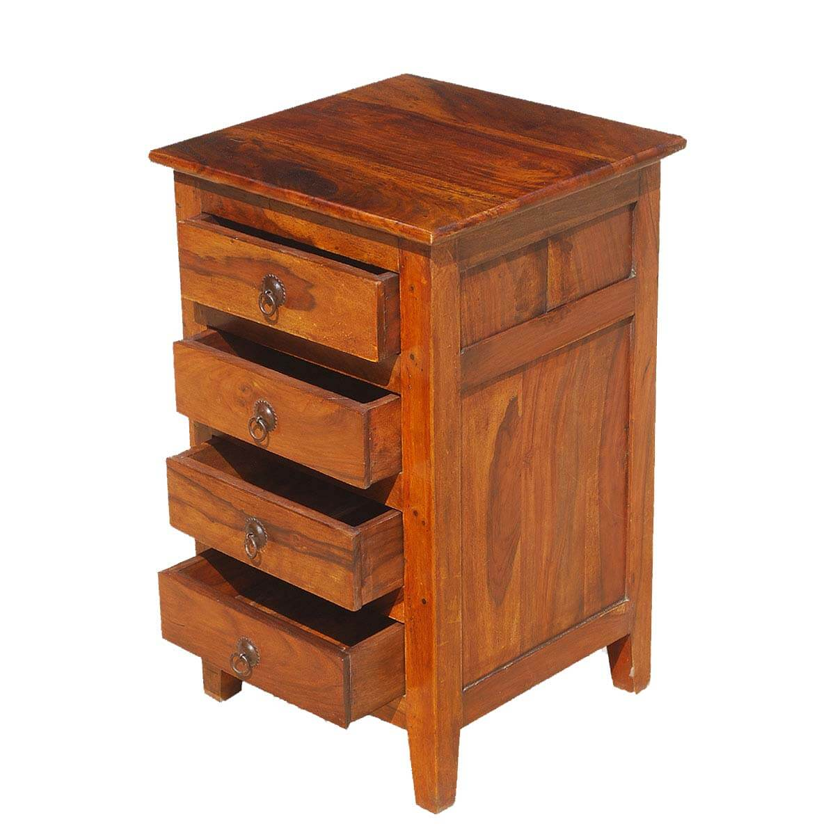 Oklahoma farmhouse rosewood mini chest of drawers end table for End tables with drawers