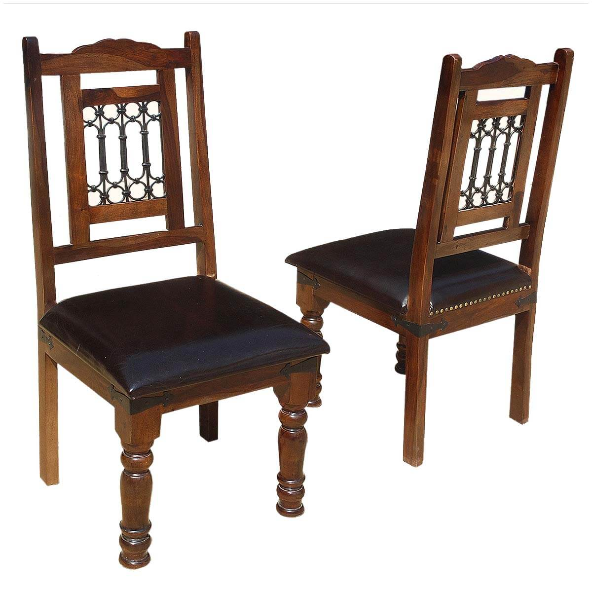 Lincoln Study Solid Wood Leather Upholstered Chairs (Set Of Two). Full resolution‎  photograph, nominally Width 1200 Height 1200 pixels, photograph with #997732.