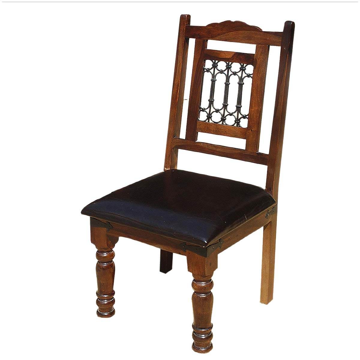 Lincoln study solid wood leather upholstered chairs set