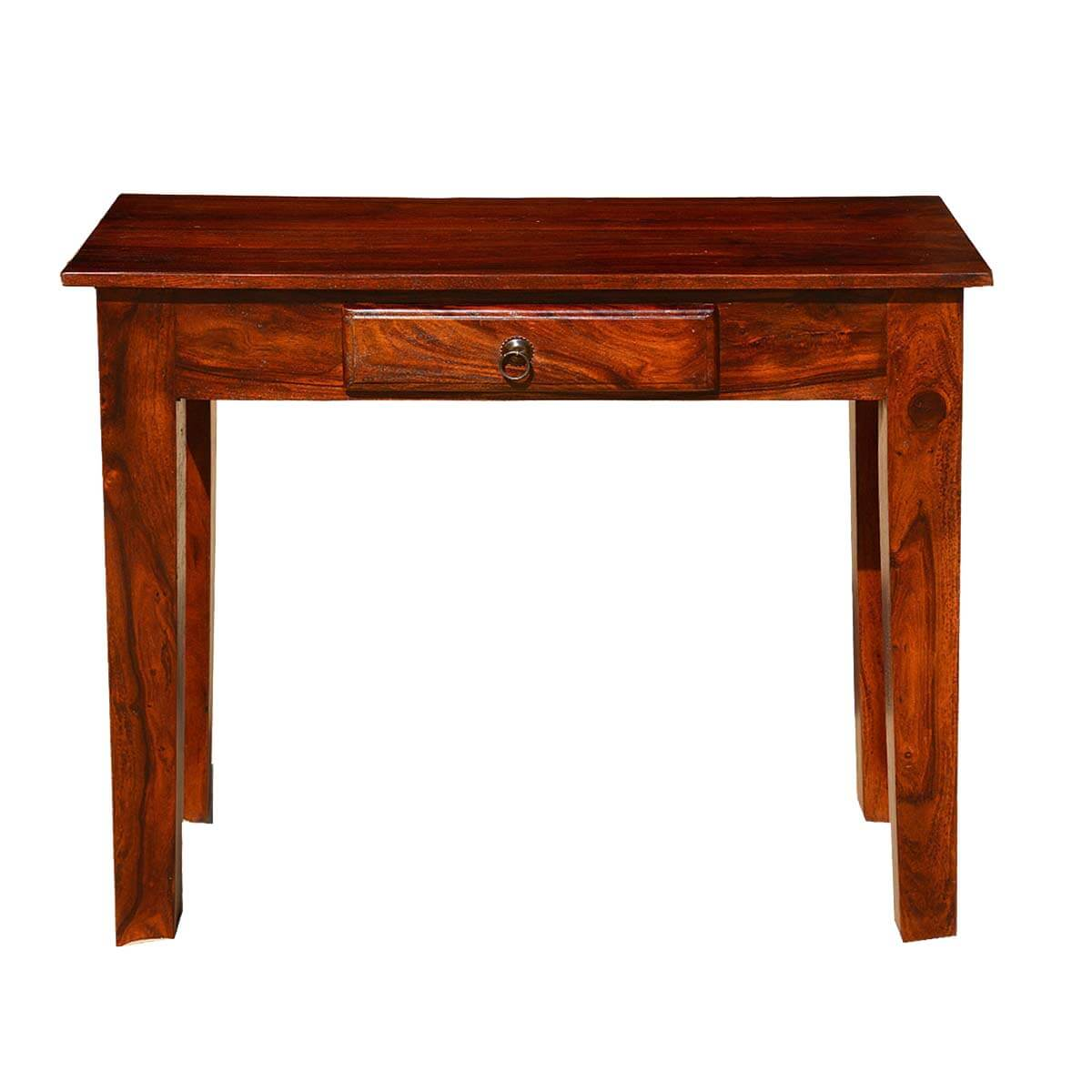 rustic solid wood entry sofa hall console table with drawer