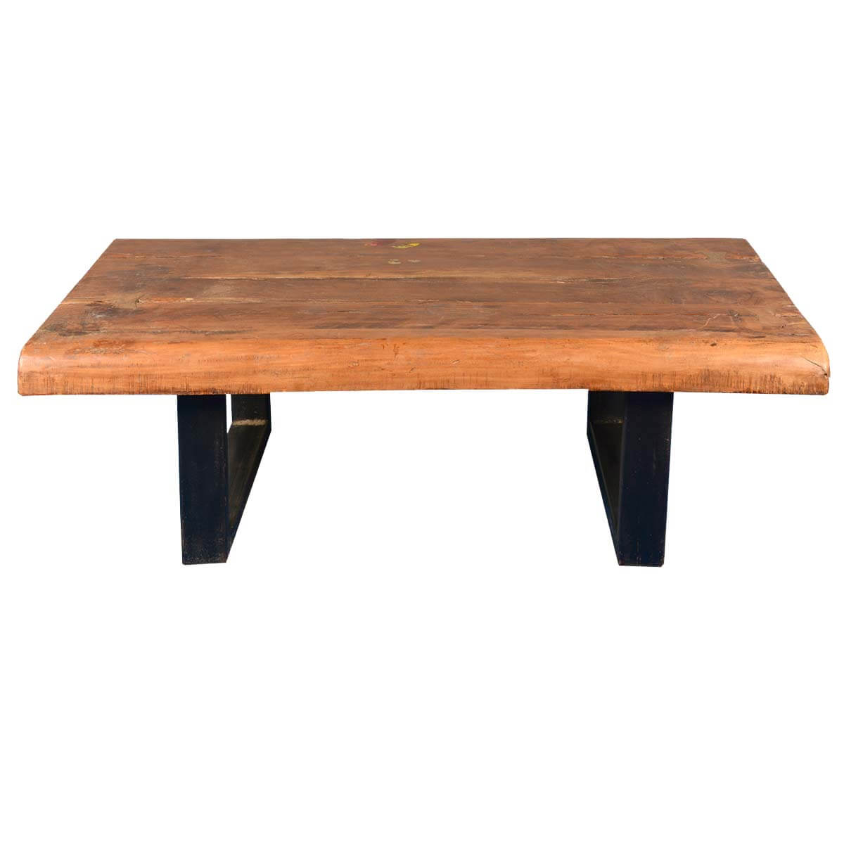 Santa Fe Natural Contemporary Iron Reclaimed Wood Coffee Table