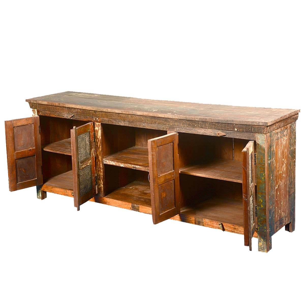 Reclaimed wood furniture rustic wooden windows tv media stand