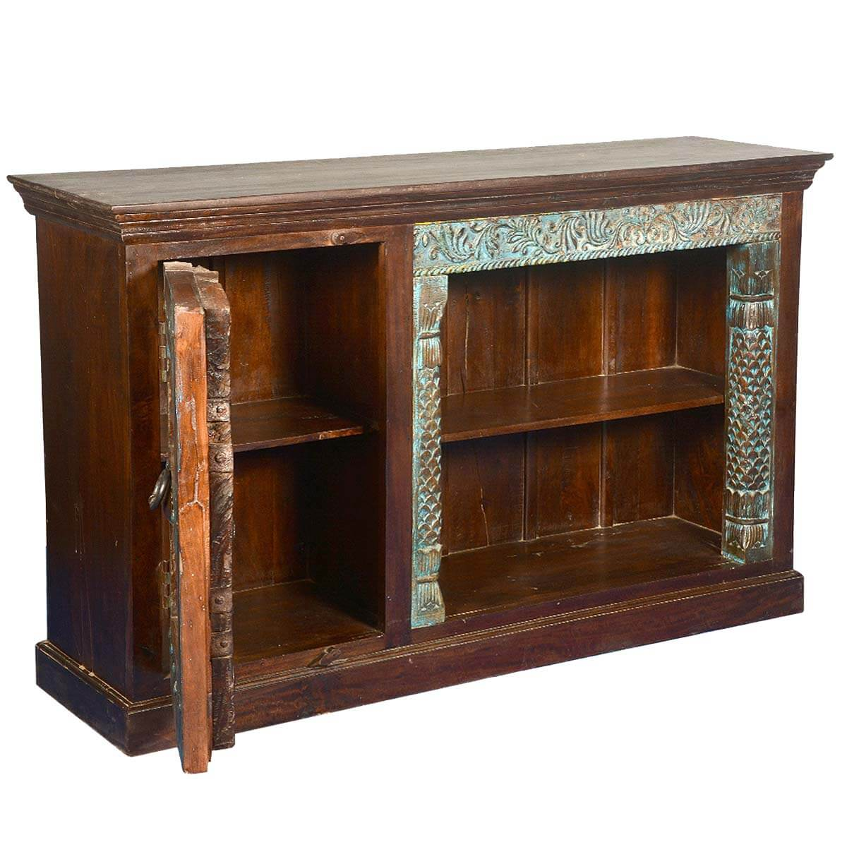 Rustic fusion teak mango wood tv stand entertainment console Rustic tv stands