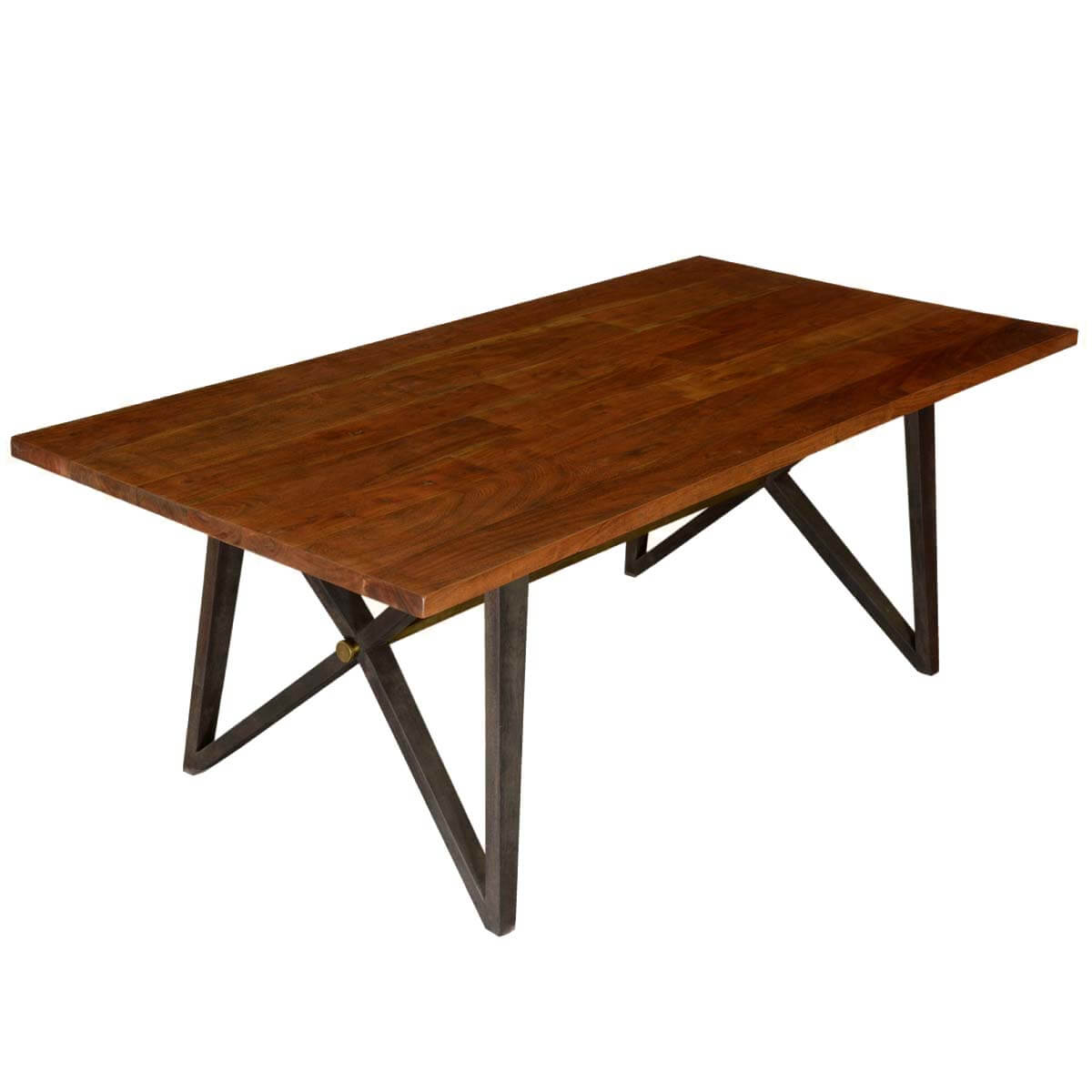 Wonderful image of McKay Rustic X Frame Double Base Solid Wood Dining Table with #67310C color and 1200x1200 pixels
