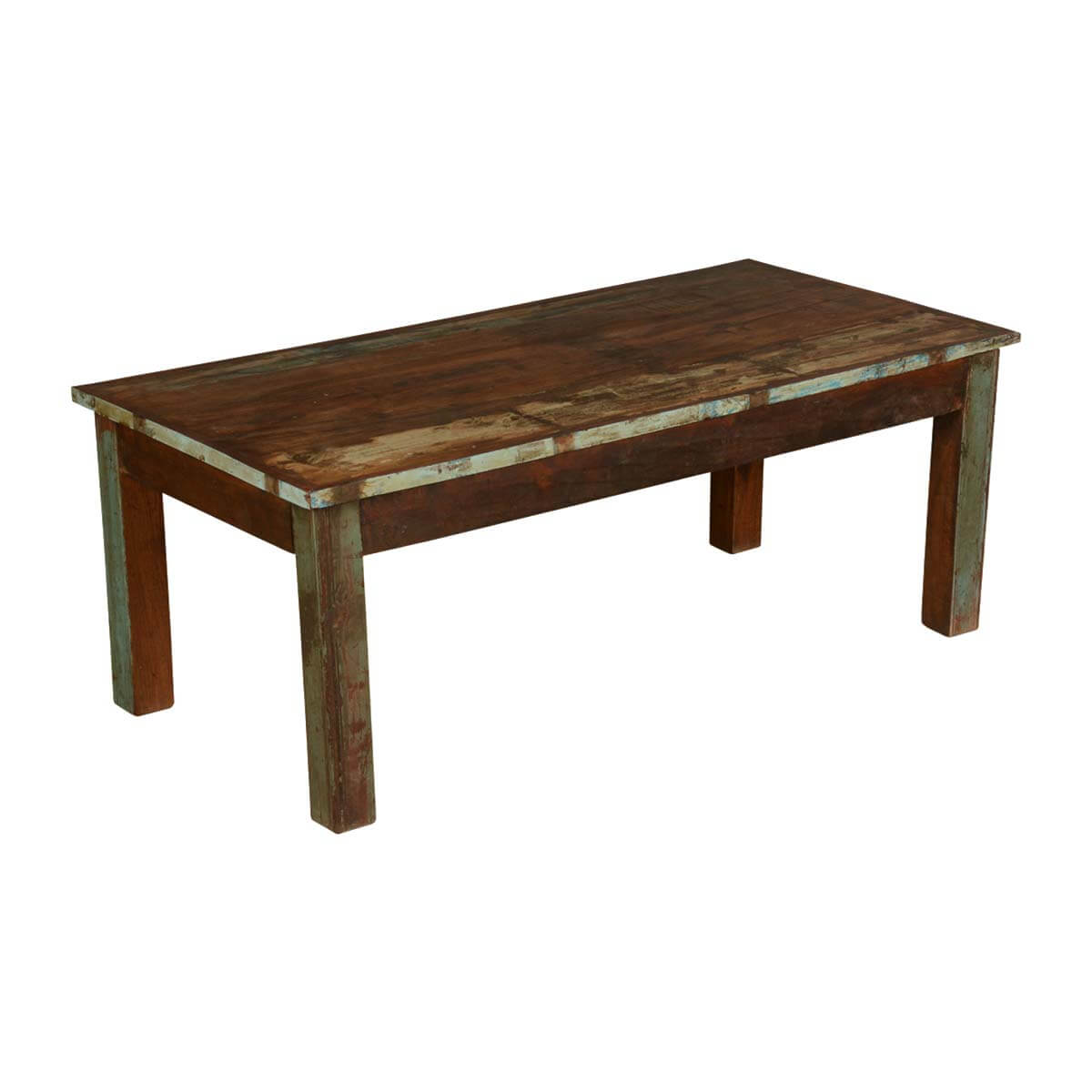 Farmhouse distressed reclaimed wood rustic coffee table for Coffee table