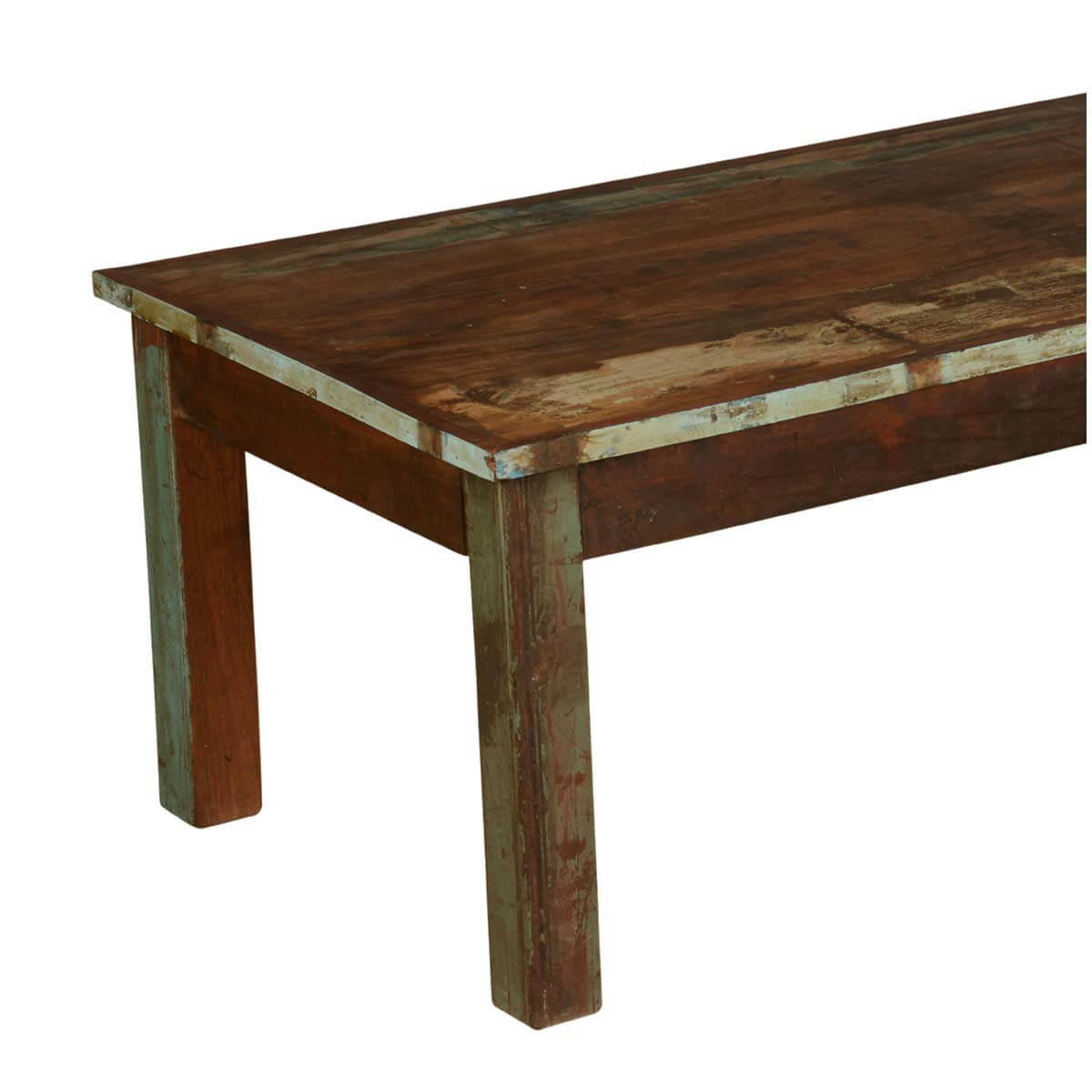Farmhouse distressed reclaimed wood rustic coffee table for Reclaimed coffee table