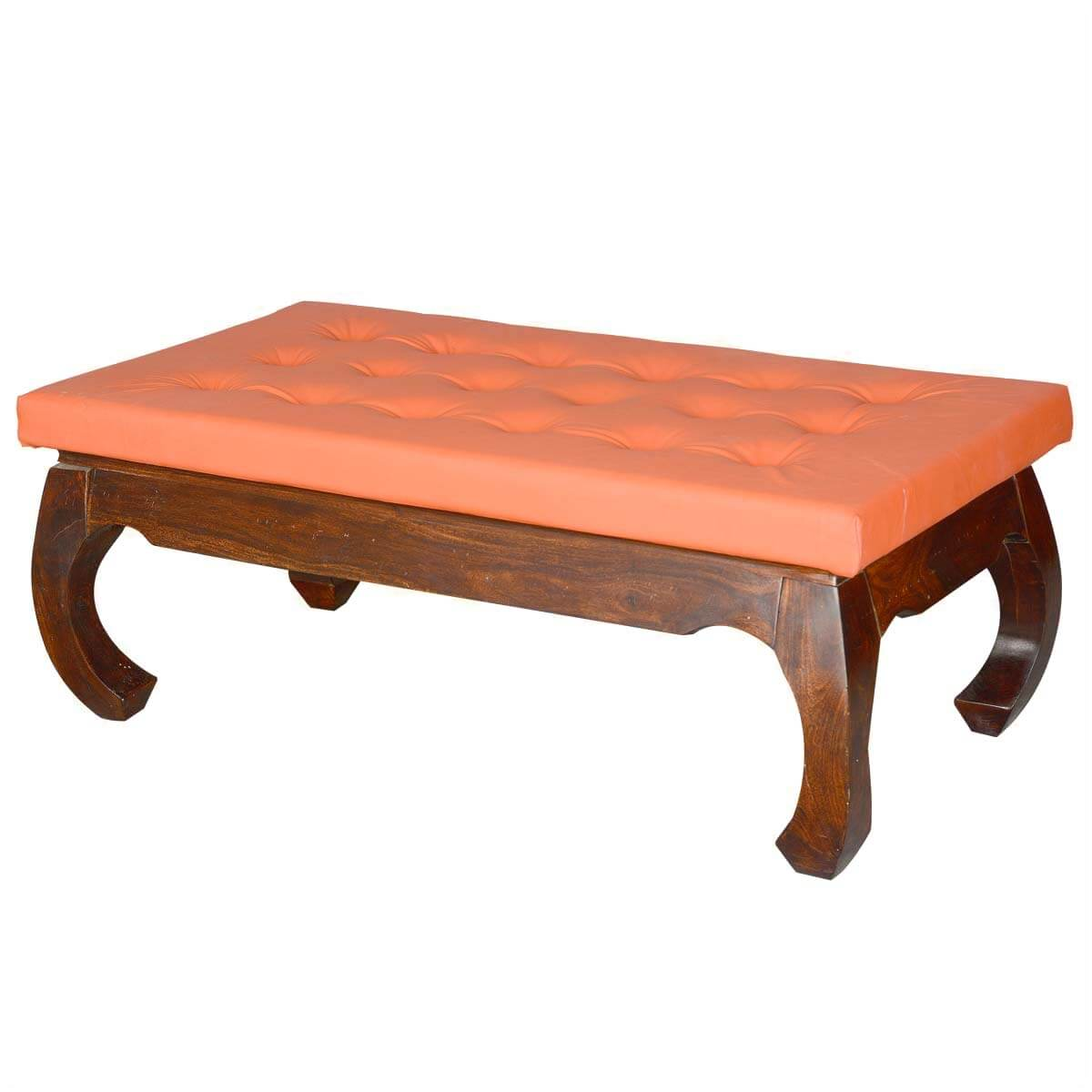 ... Coffee Tables Sante Fe Leather Upholstered Solid Wood Opium Coffee