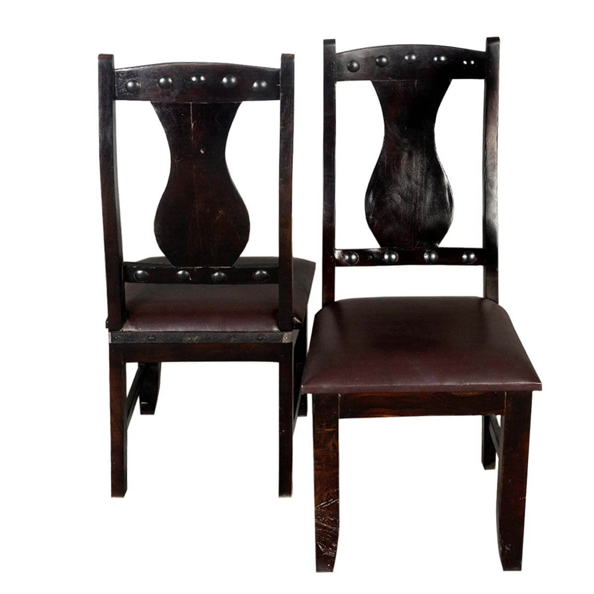 vase back solid wood leather ergo dynamic dining chair set of 2. Black Bedroom Furniture Sets. Home Design Ideas