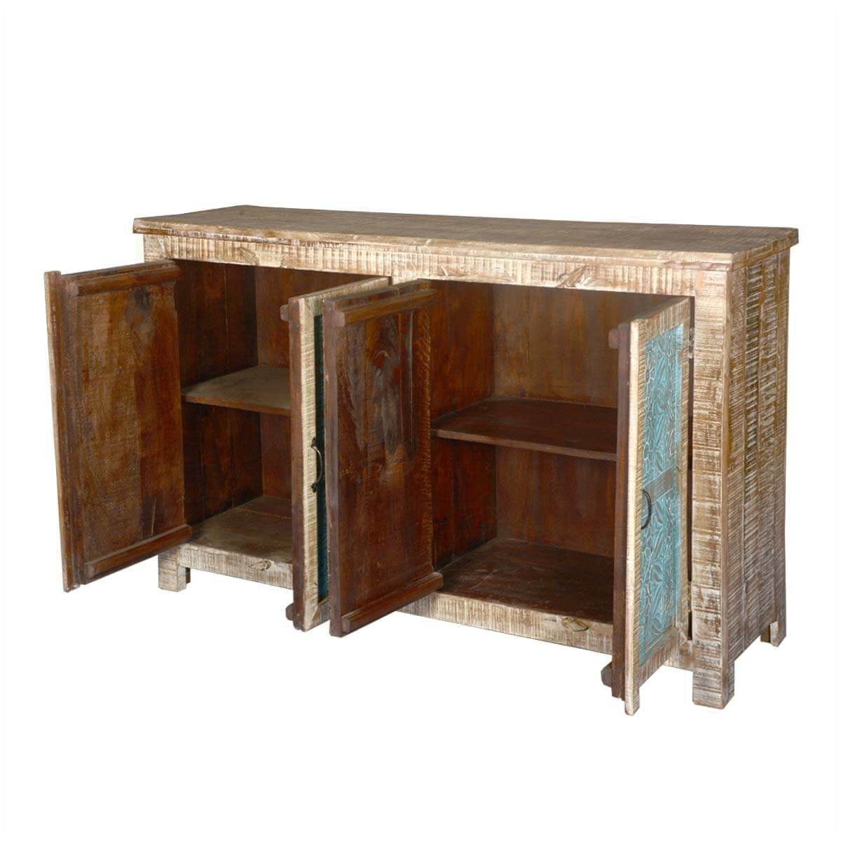 Home Santa Fe Textured Mango Wood Sideboard Buffet Cabinet. Full resolution‎  file, nominally Width 1200 Height 1200 pixels, file with #A67825.