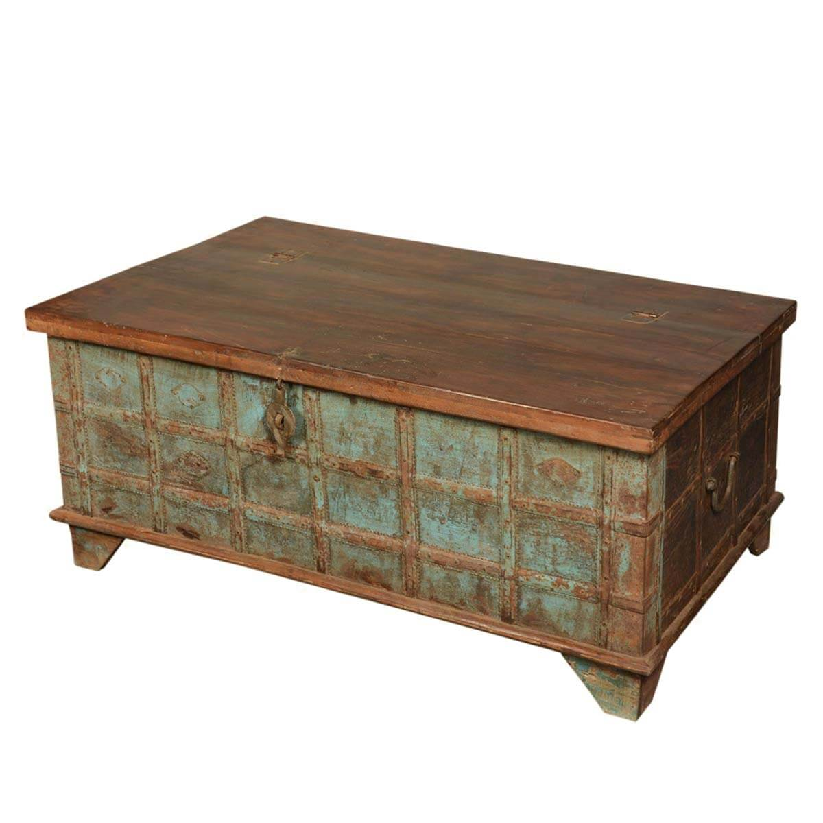 Captain 39 S Stash Reclaimed Wood Coffee Table Storage Chest