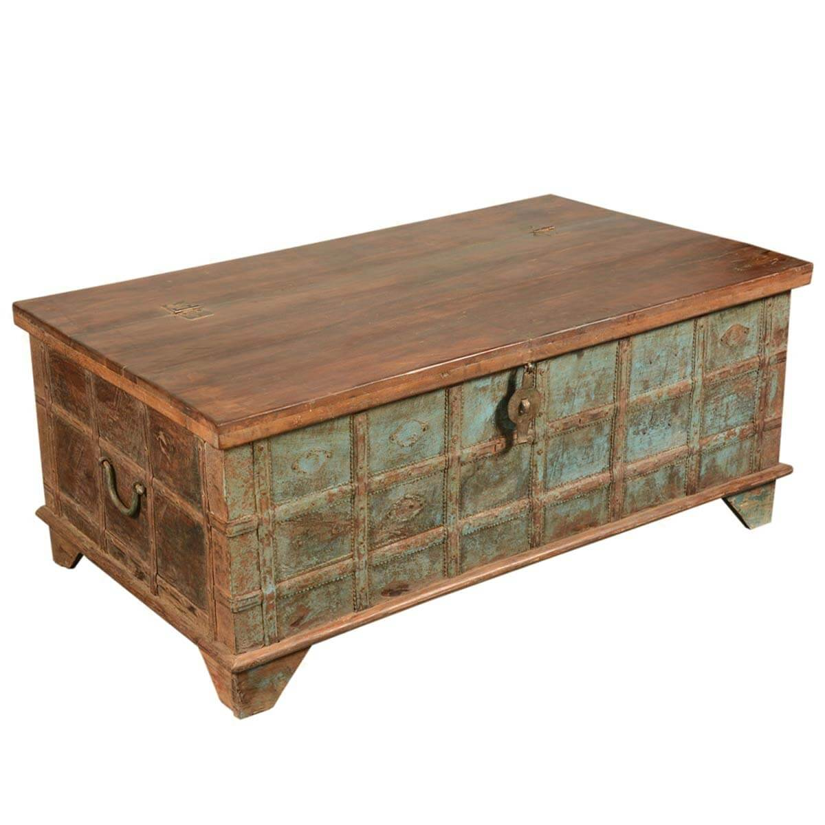 Captain 39 s stash reclaimed wood coffee table storage chest Coffee table chest with storage