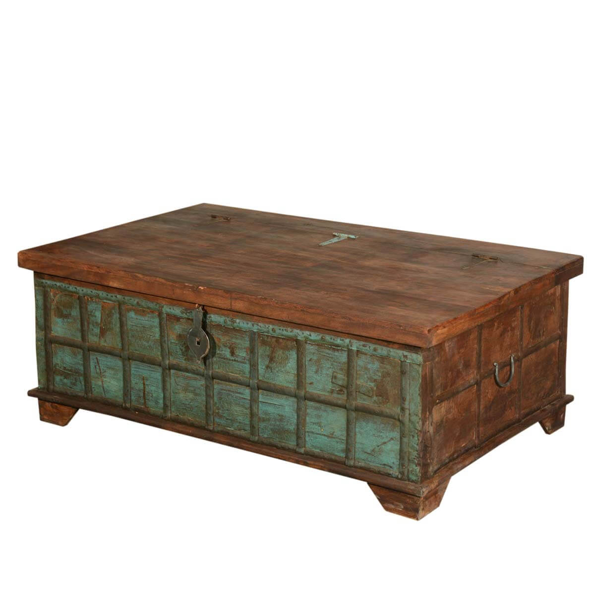 Captain 39 S Stash Reclaimed Wood Coffee Table Trunk Chest