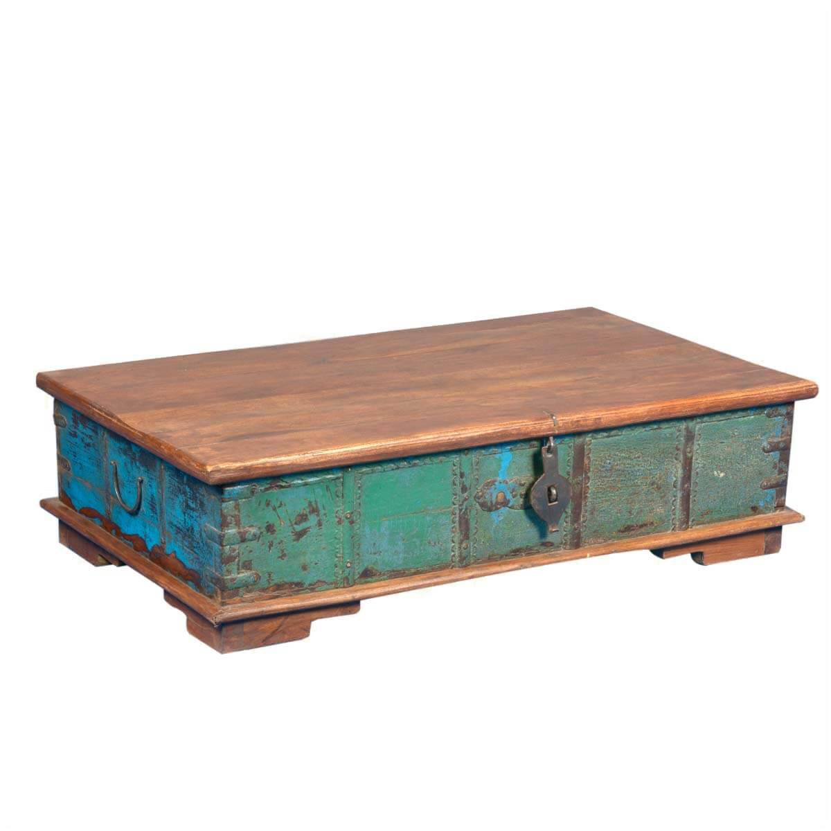 Emerald Treasure Reclaimed Wood Coffee Table Storage Chest