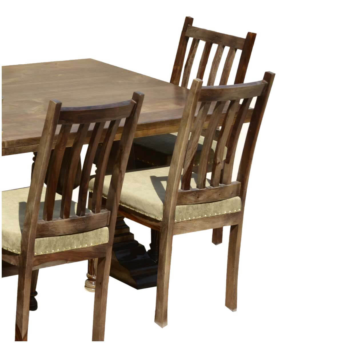 Farmhouse Solid Wood Trestle Rustic Dining Table  : 53014 from sierralivingconcepts.com size 1200 x 1200 jpeg 101kB