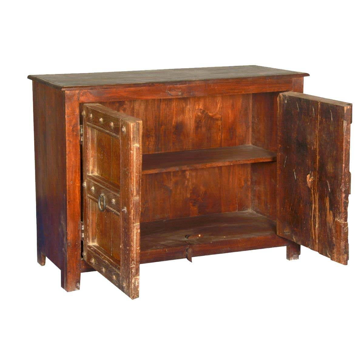 Camelot Gothic Reclaimed Wood Console Buffet Storage Cabinet : 53062 from sierralivingconcepts.com size 1200 x 1200 jpeg 114kB