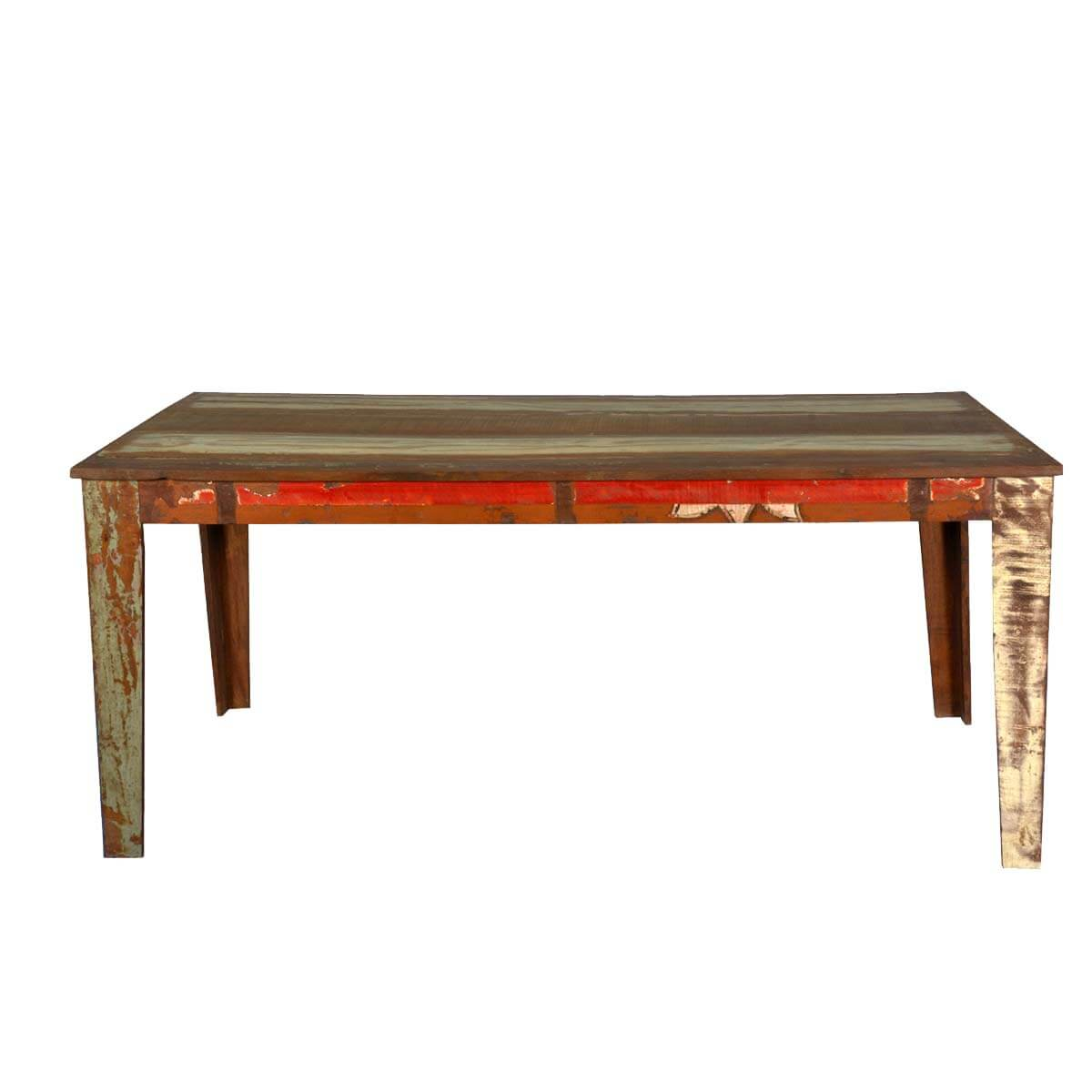 Appalachian rustic reclaimed wood 71 kitchen dining table - Rustic wooden kitchen table ...