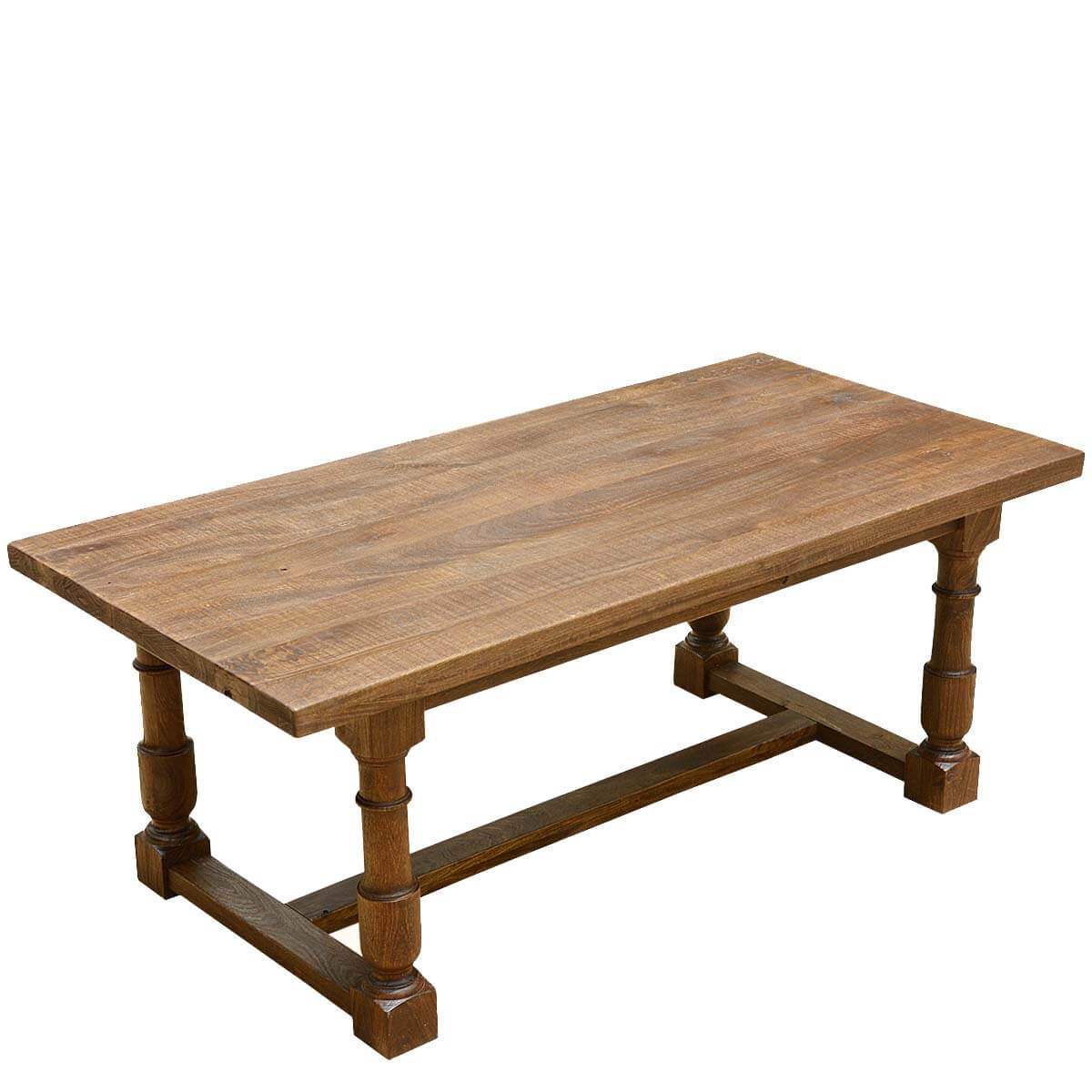 Large solid mango wood nelson 79 dining table with turned for Mango wood dining table