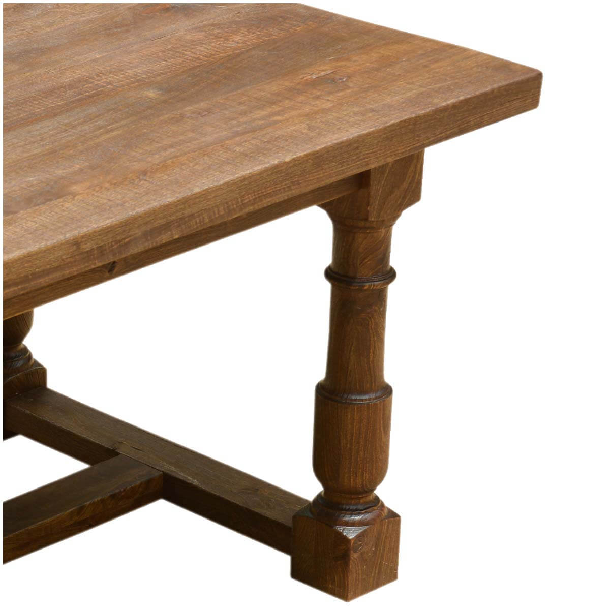 large solid mango wood nelson 79 dining table with turned legs