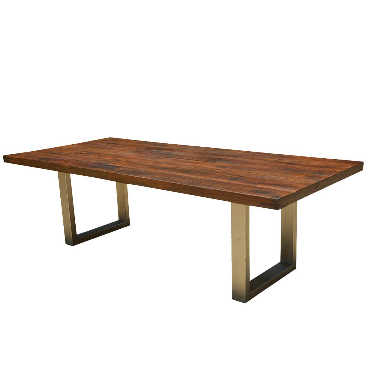 Acacia lyon large contemporary rustic solid acacia wood for Big modern dining table
