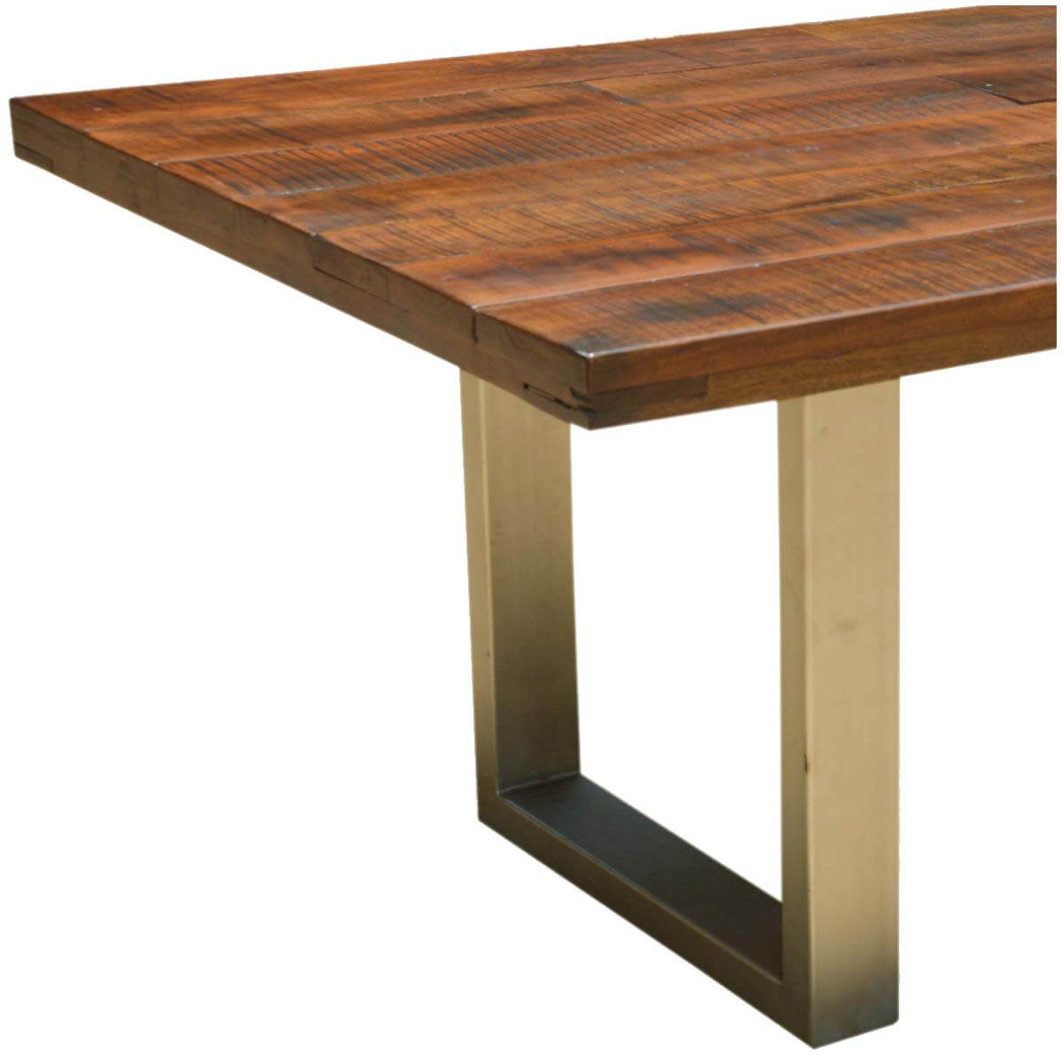 acacia lyon large contemporary rustic solid acacia wood dining table
