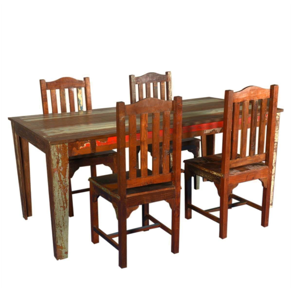 reclaimed wood dining room sets