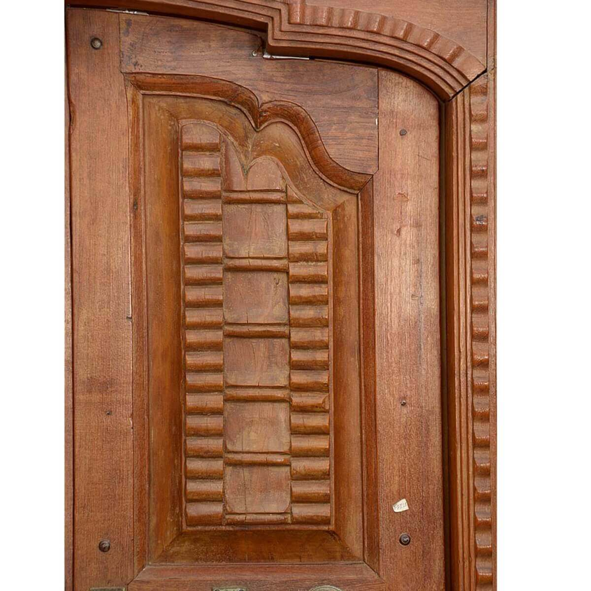 Outstanding 19th century antique reclaimed wood indian door for Old wood doors salvaged