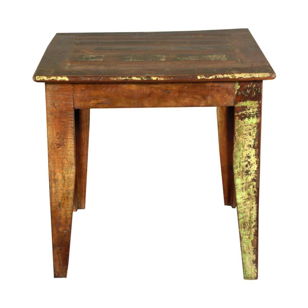 cariboo 32 quot square reclaimed wood kitchen dinette table
